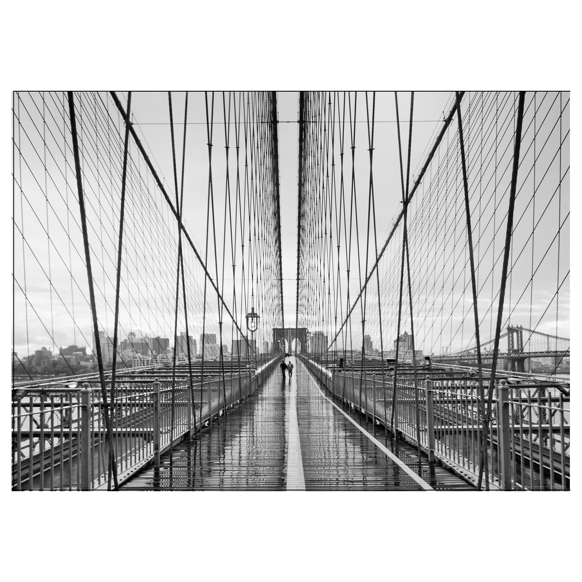 Ikea Brooklyn Bridge Wall Art Intended For Fashionable Bild Poster Walking On Brooklyn Bridge 70X50 Cm – Ikea (View 8 of 15)