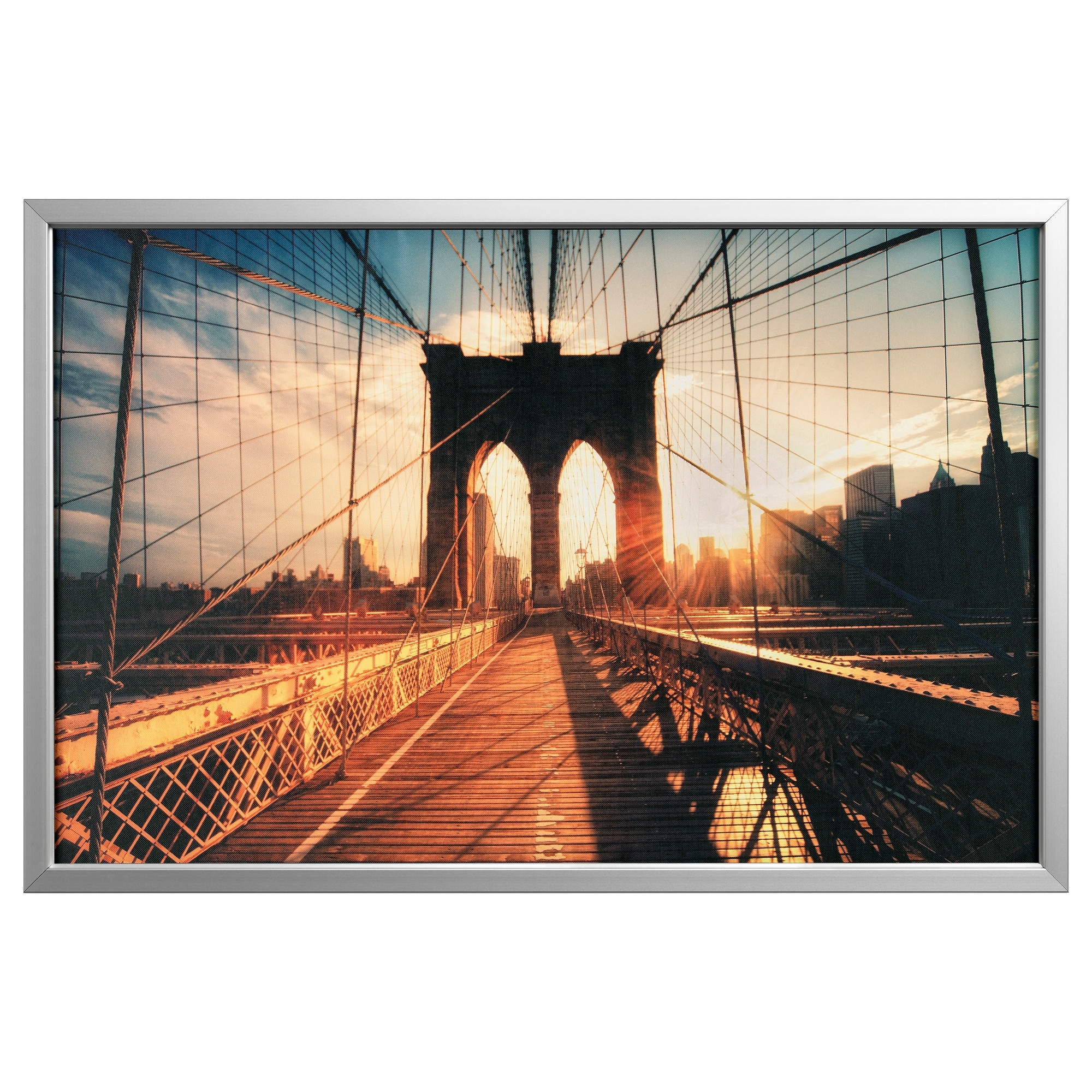Ikea Brooklyn Bridge Wall Art With Regard To Most Popular Björksta Picture And Frame – Black – Ikea (View 10 of 15)