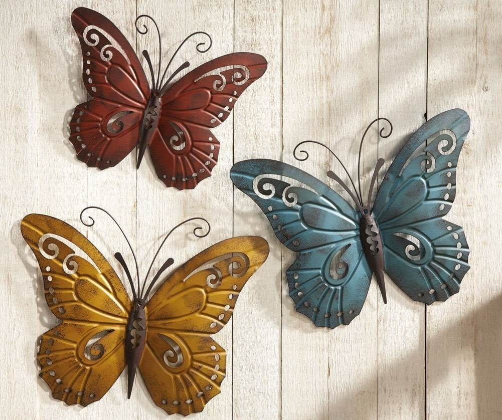 India Abstract Metal Wall Art Intended For Fashionable Metal Wall Decor Butterfly Sculpture 29 X  (View 7 of 15)