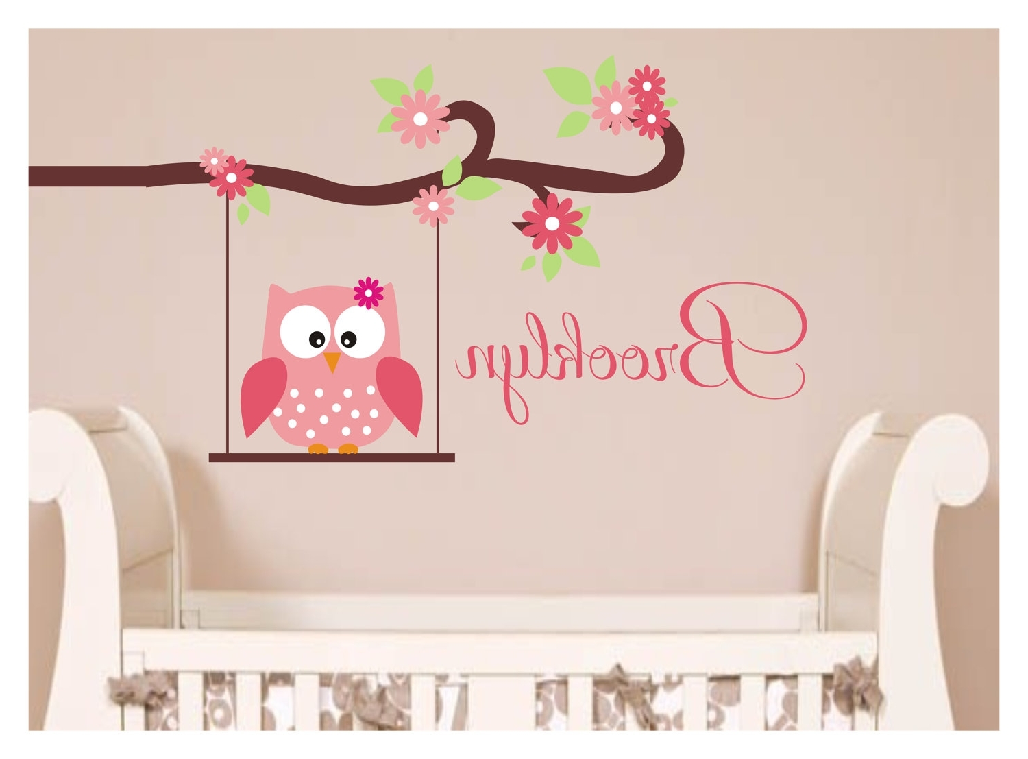 Inspiration Home Designs : Owl Wall Throughout Owl Wall Art Stickers (View 4 of 15)