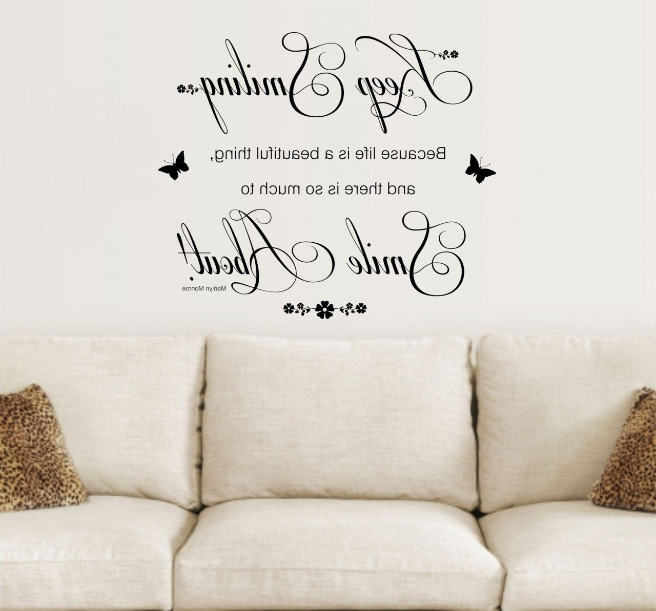 Inspirational Sayings Wall Art Within Popular Wall Quotes And Sayings (View 2 of 15)
