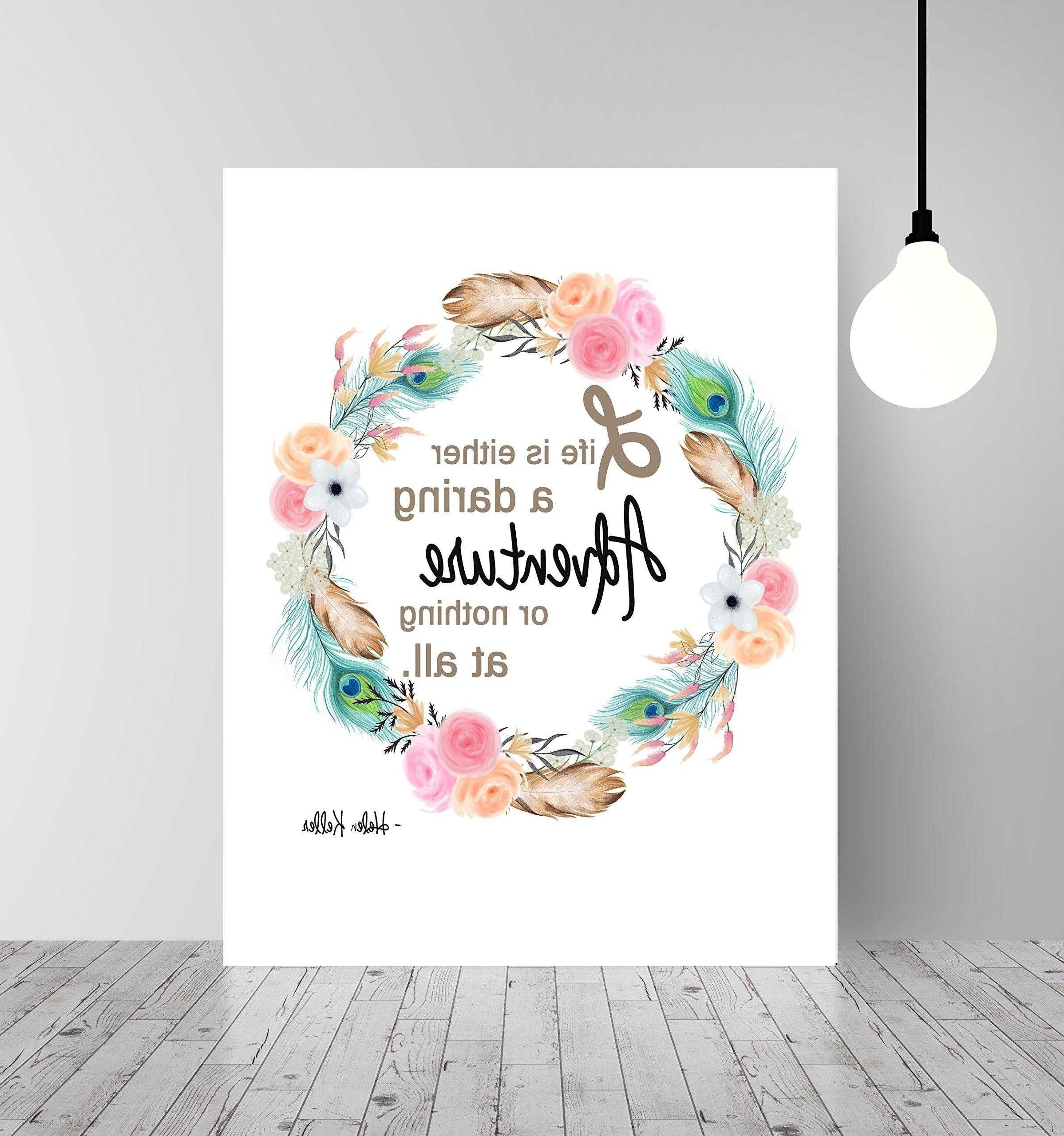 Inspirational Wall Art For Girls Within Newest Inspirational Wall Art – Rpisite (Gallery 1 of 15)