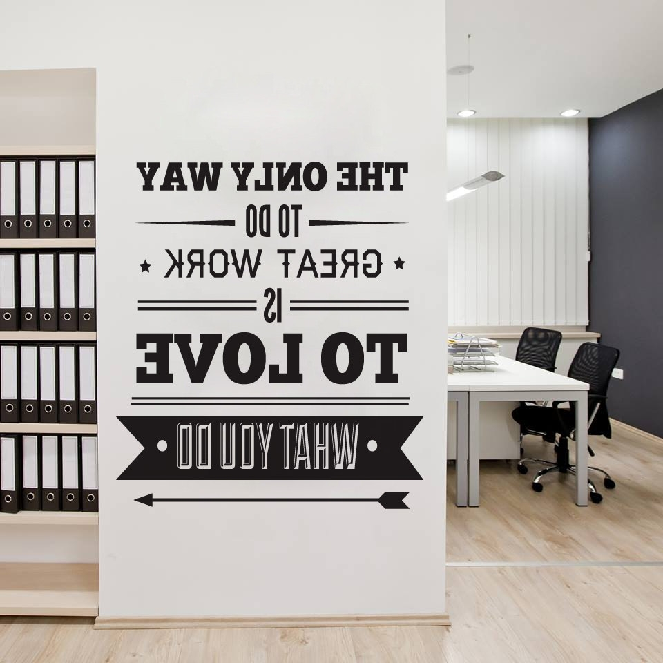 Inspirational Wall Art For Office In Well Known Office Decor Typography Inspirational Quote Wall Decoration Art (View 4 of 15)