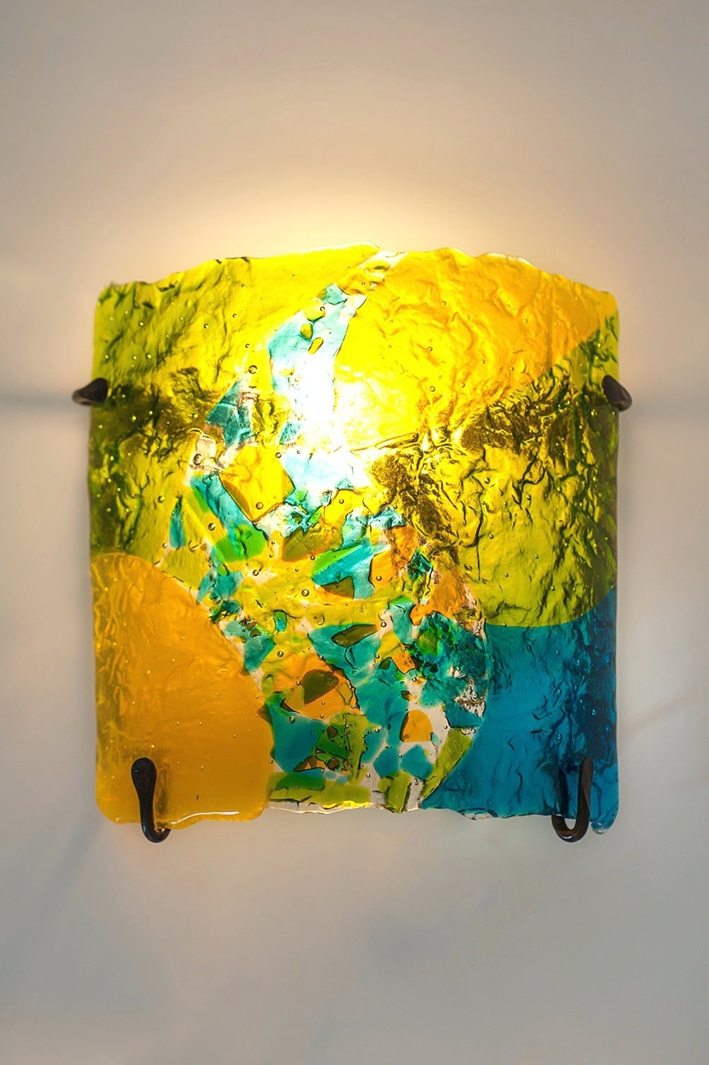 15 Inspirations Of Fused Glass And Metal Wall Art