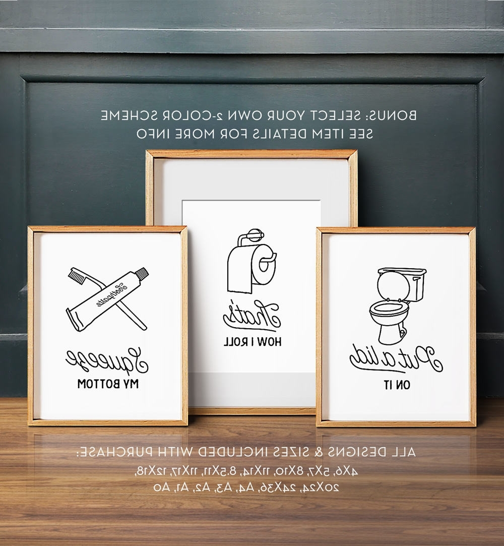 Install The Best Bathroom Wall Art To Enhance The Décor And Grace For 2018 Wall Art For The Bathroom (Gallery 7 of 15)