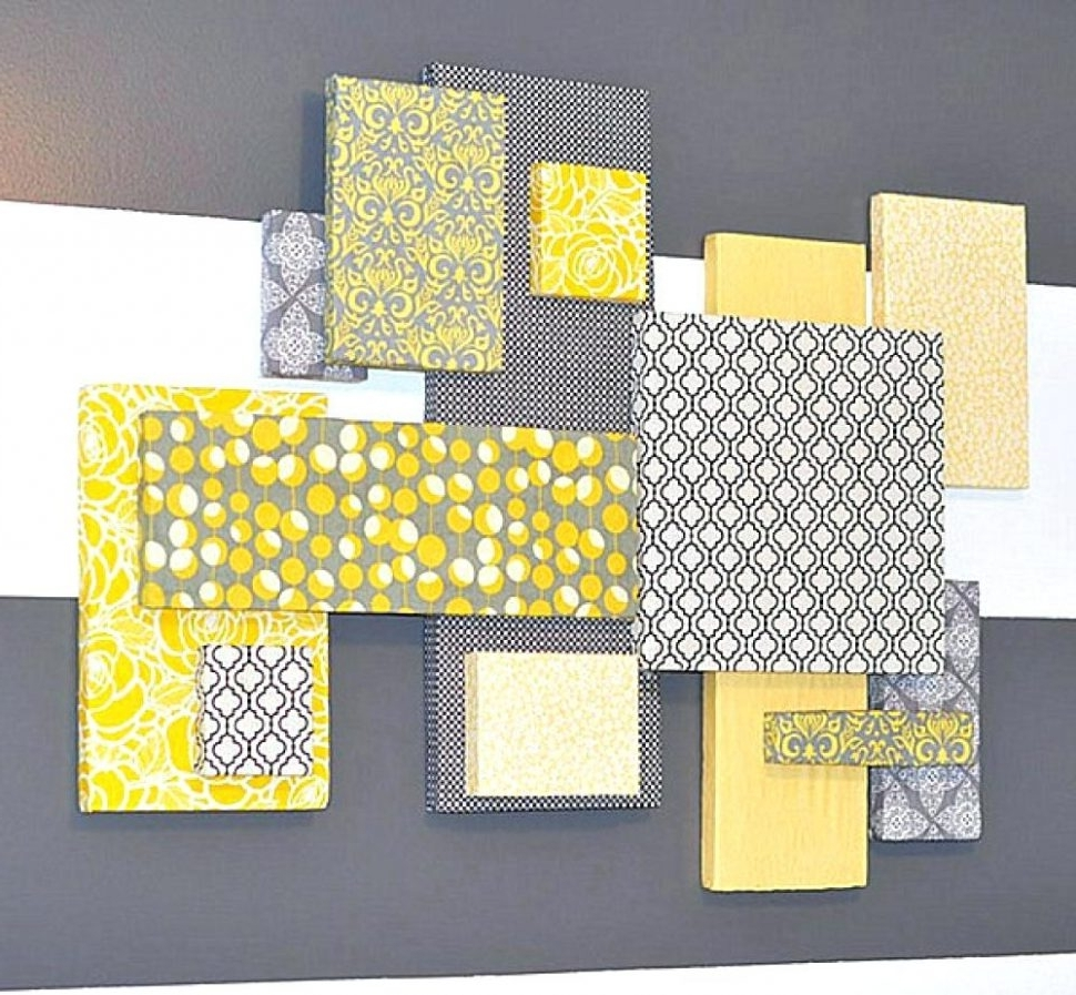Interior And Exterior : Wall Arts Gray And Yellow Wall Art Canvas In Famous Yellow And Gray Wall Art (Gallery 9 of 15)
