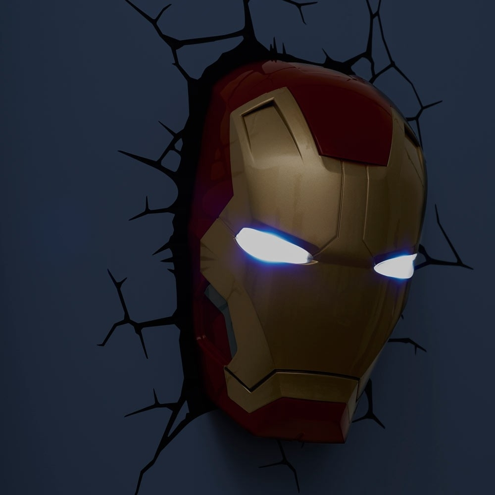 Iron Man 3d Wall Art Regarding Well Liked The Avengers 3d Wall Art Light – Iron Man Mask (View 5 of 15)