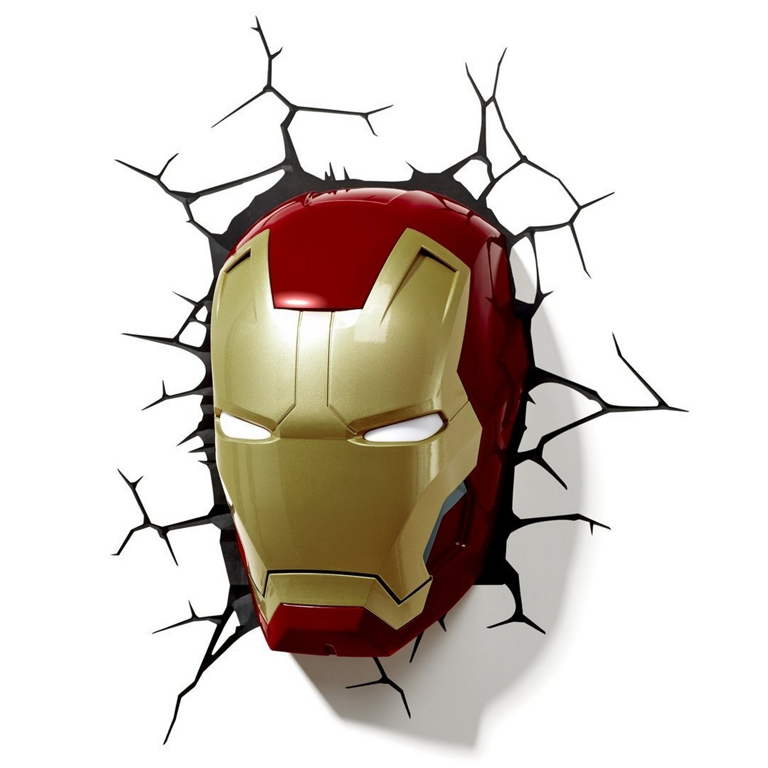Iron Man Mask 3D Led Wall Art Night Light Kids Children Bedroom With Favorite 3D Wall Art Iron Man Night Light (View 9 of 15)