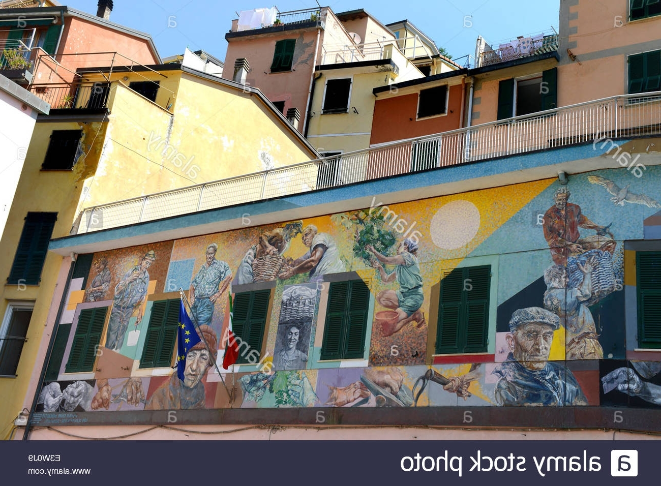 Italian Art Wall Murals Within Preferred Italian Street Art Murals Mural At Riomaggiore On The Cinque Terre (Gallery 10 of 15)