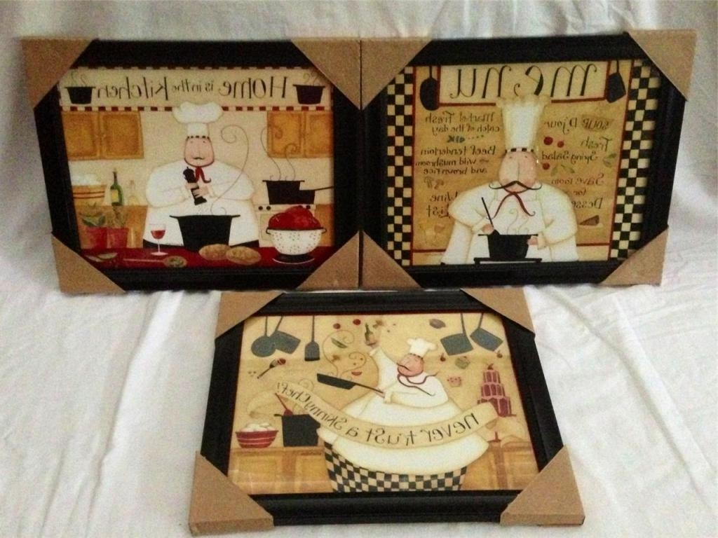 Italian Bistro Wall Art Regarding Most Recently Released Italian Fat Chef Kitchen Decor — Home Designs Insight : Italian (View 2 of 15)