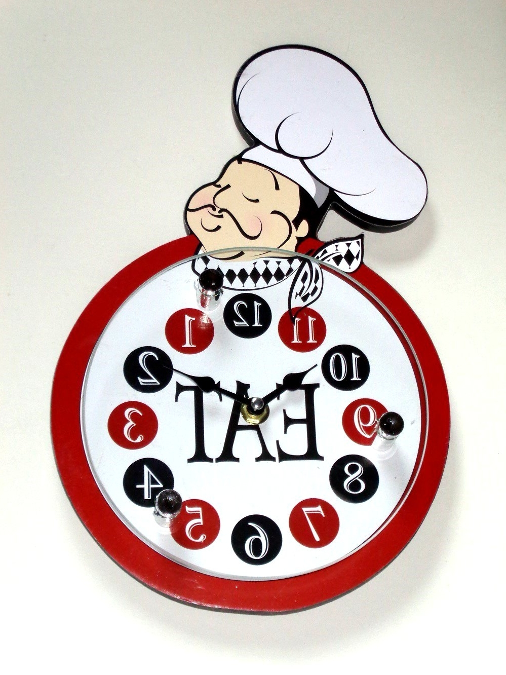 Italian Chef Wall Art With Preferred Fat Italian Chef Kitchen Wall Clock $ (View 8 of 15)