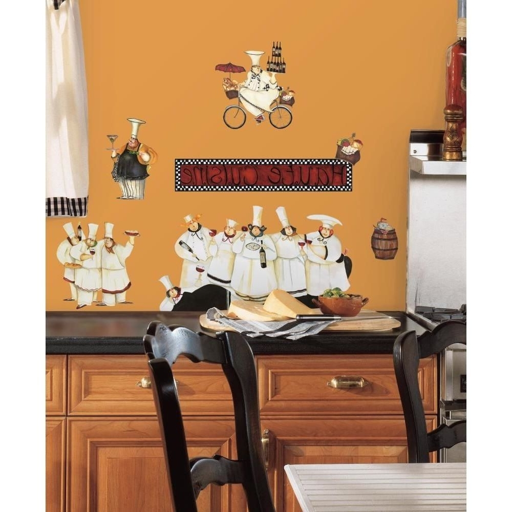 Italian Chef Wall Art Within Recent New Italian Fat Chefs Peel & Stick Wall Decals Kitchen Bistro Cafe (View 4 of 15)