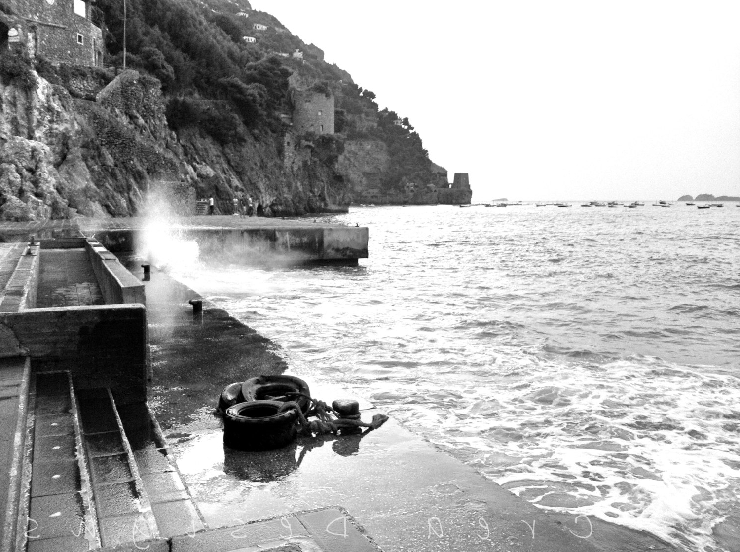 Italian Coast Wall Art With Regard To Best And Newest Black And White Positano Photography – Travel Photography – Beach (Gallery 4 of 15)