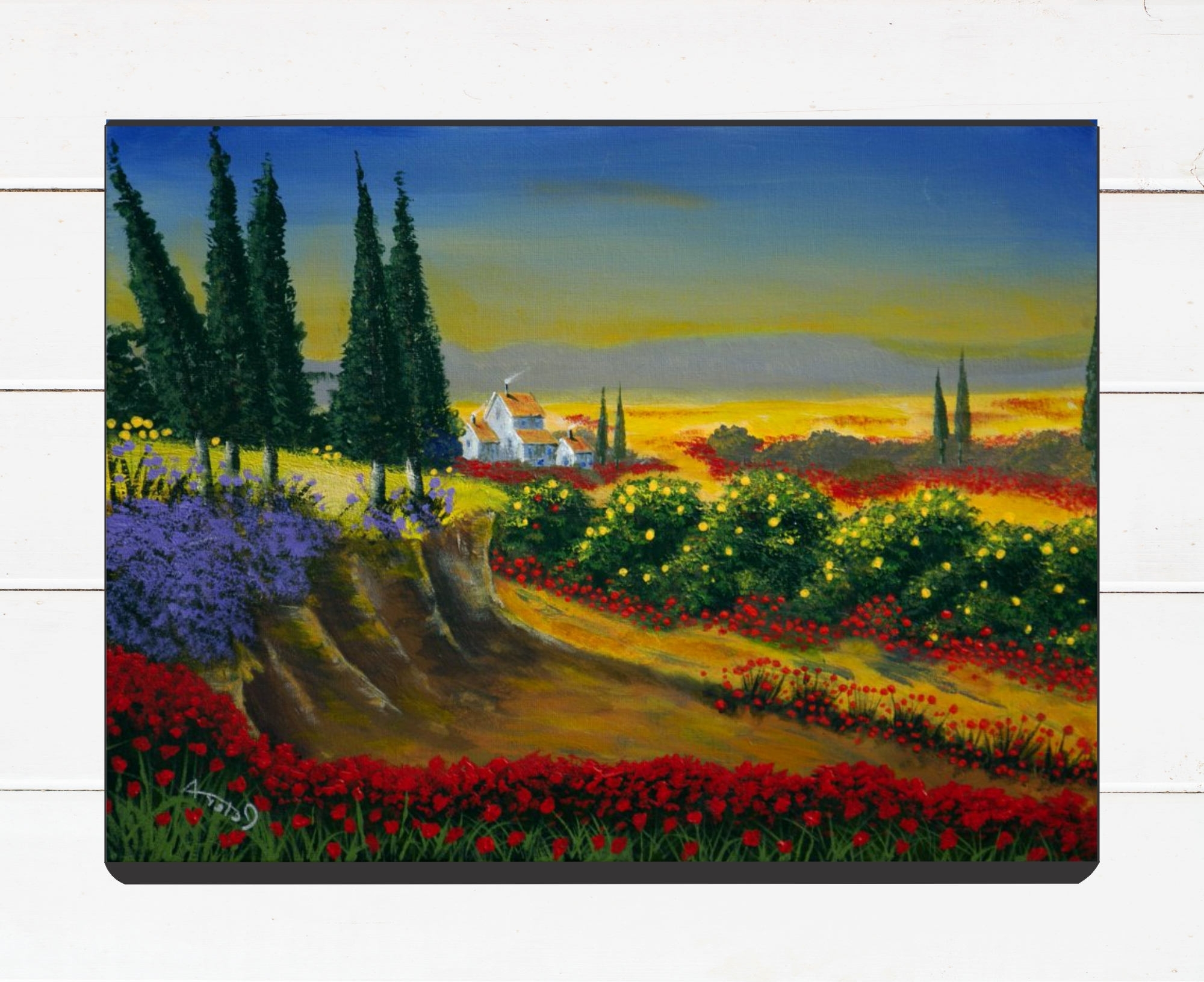 Italian Countryside Wall Art With Regard To Current Tuscany Painting Italian Landscape Acrylic Painting On (View 5 of 15)