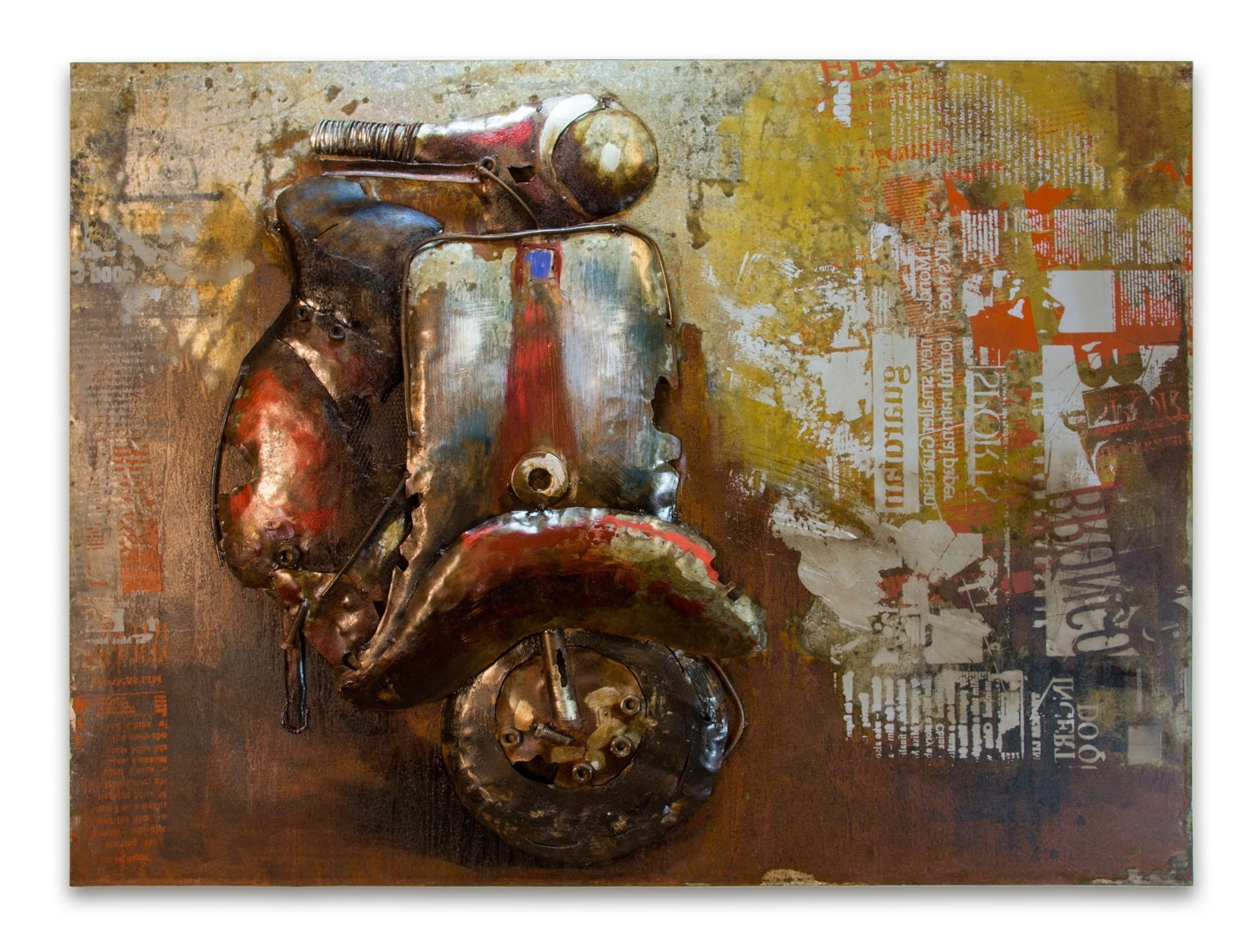 Italian Metal Wall Art Within Latest Wall Art Decor: Scooter Crafted Italian Metal Wall Art Handmade (View 2 of 15)