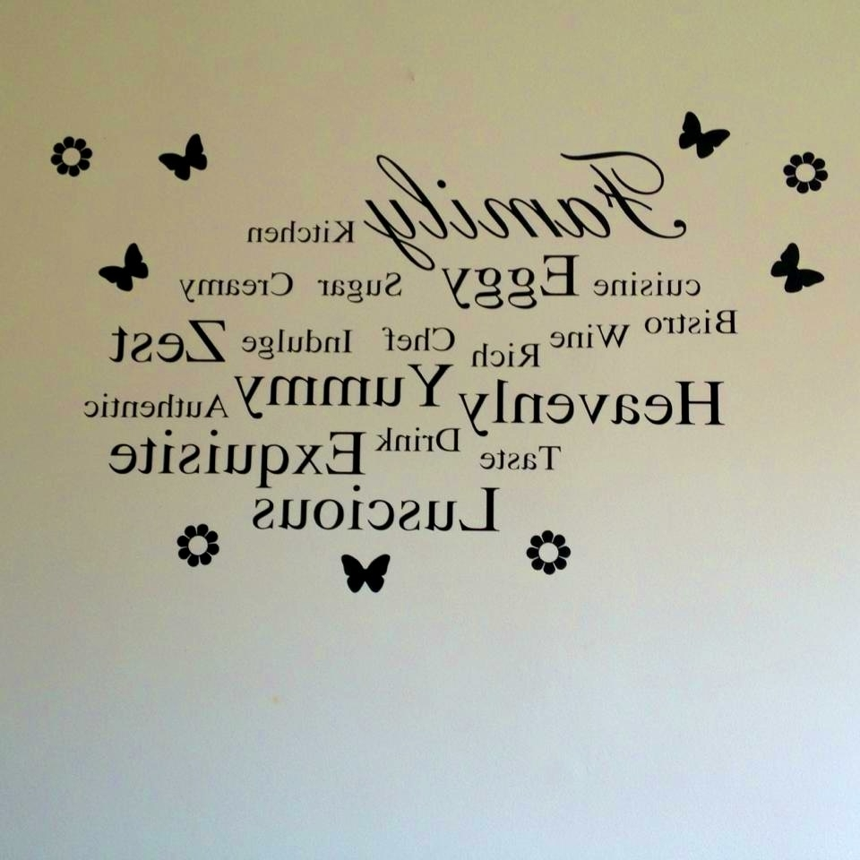 Italian Phrases Wall Art Regarding Popular Kitchen : Entrancing Kitchen Words Phrases Wall Art Sticker Quote (View 6 of 15)