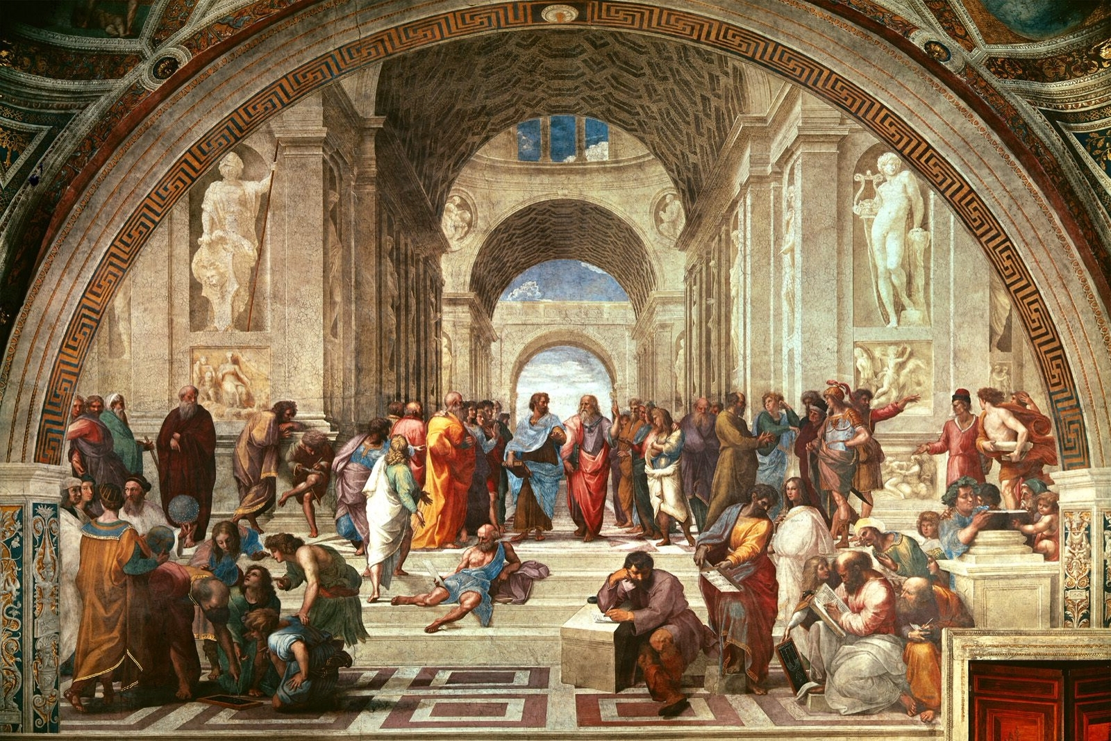 Italian Renaissance Wall Art Within Recent Renaissance Art School Of Athens Philosophy Wall Raphael (View 12 of 15)