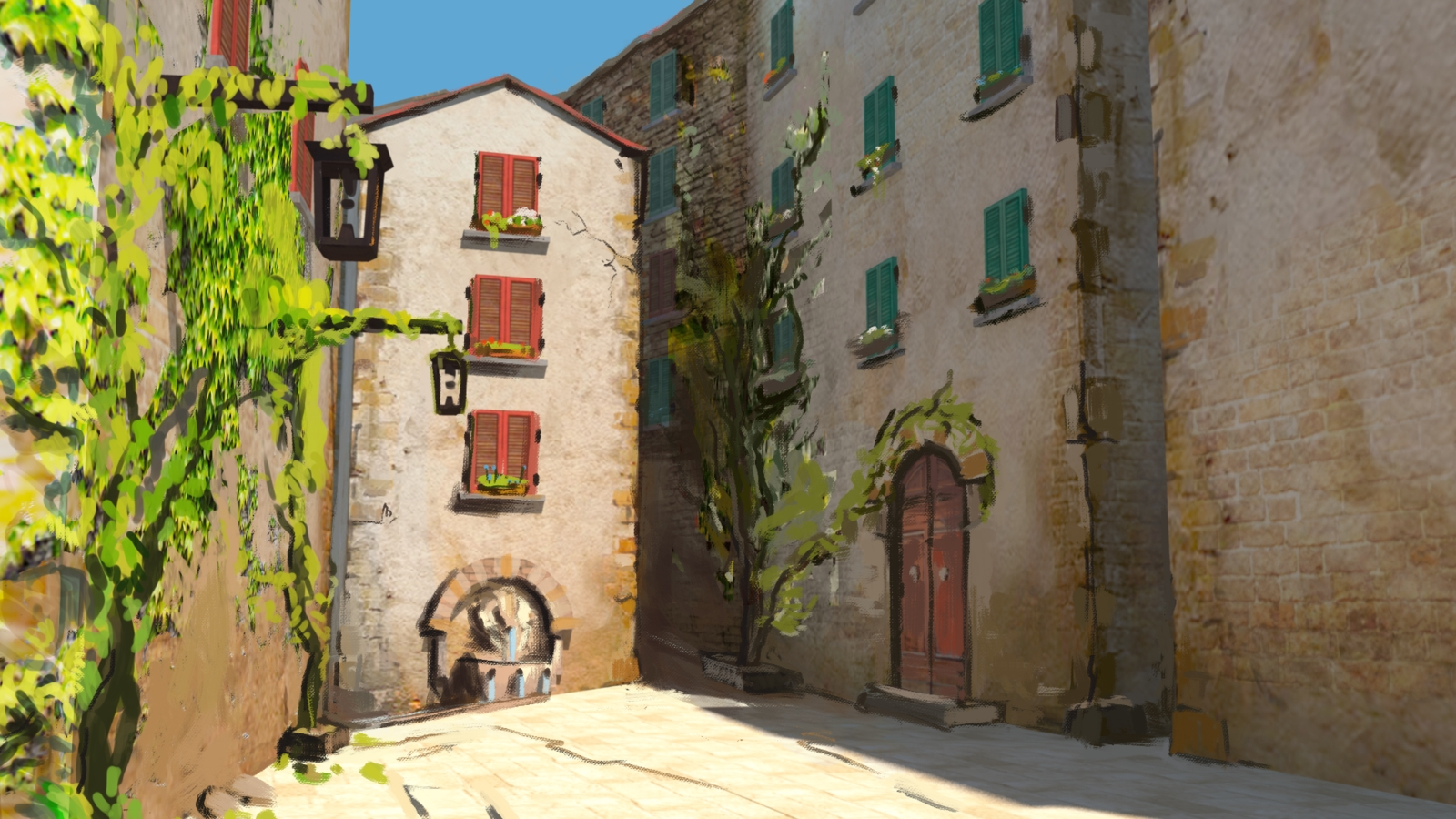 Italian Scene Wall Art Intended For Most Up To Date Italian Village Scenesleepytimes On Deviantart (View 6 of 15)