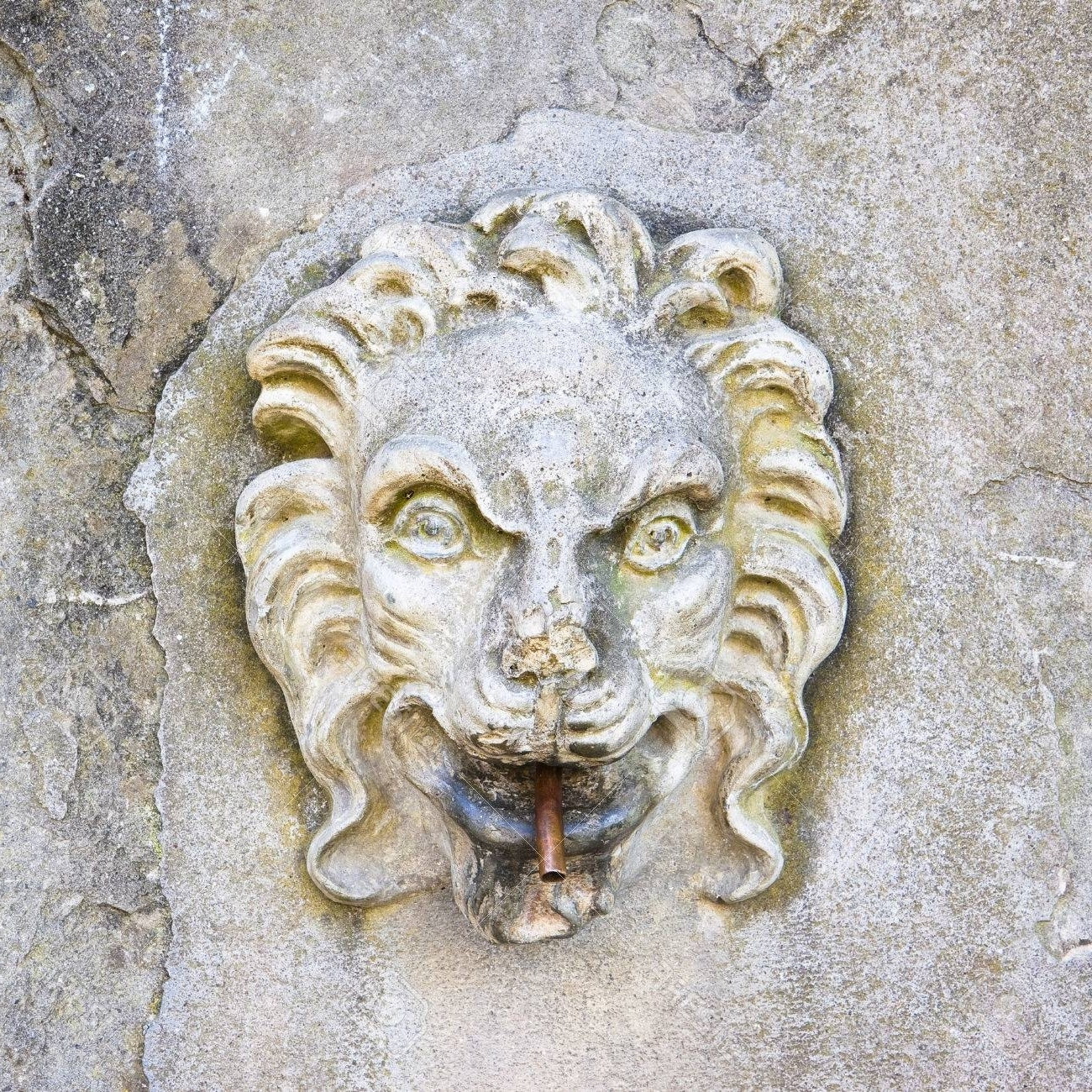 Italian Stone Wall Art With Regard To Best And Newest Ancient Italian Stone Fountain With Lion Head Stock Photo, Picture (Gallery 12 of 15)