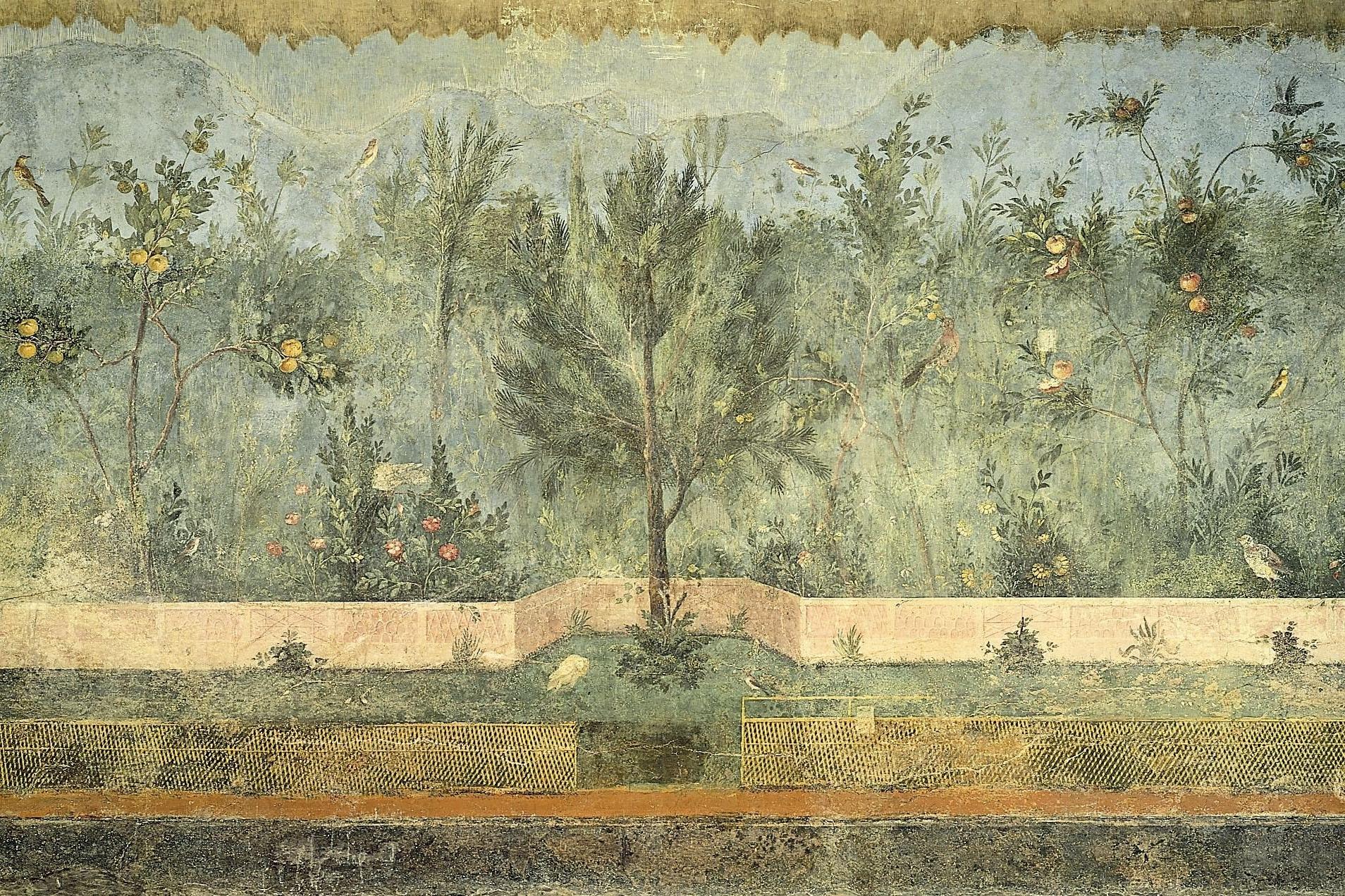 Italian Villa Wall Art Regarding Best And Newest Villa Livia, Garden Room, Pompeii Museo Nazionale, Rome Http (View 6 of 15)