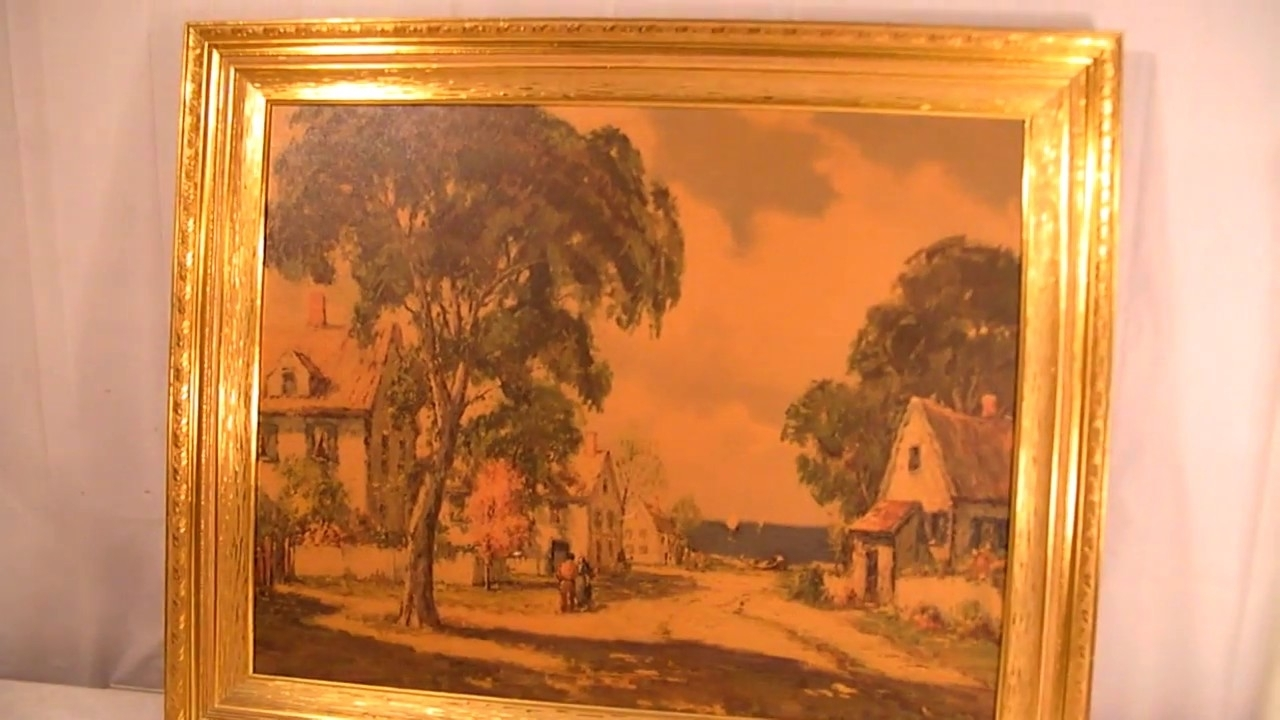 Italian Villa Wall Art With 2018 Italian Villa Paintingturner Wall Accessory – Youtube (Gallery 6 of 15)