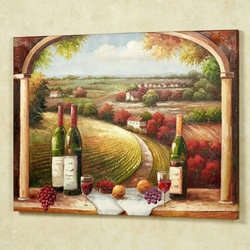 Italian Wall Art Decor Throughout Well Known Wall Arts ~ Tuscan Wall Art Stickers Tuscan Italian Canvas Wall (View 9 of 15)
