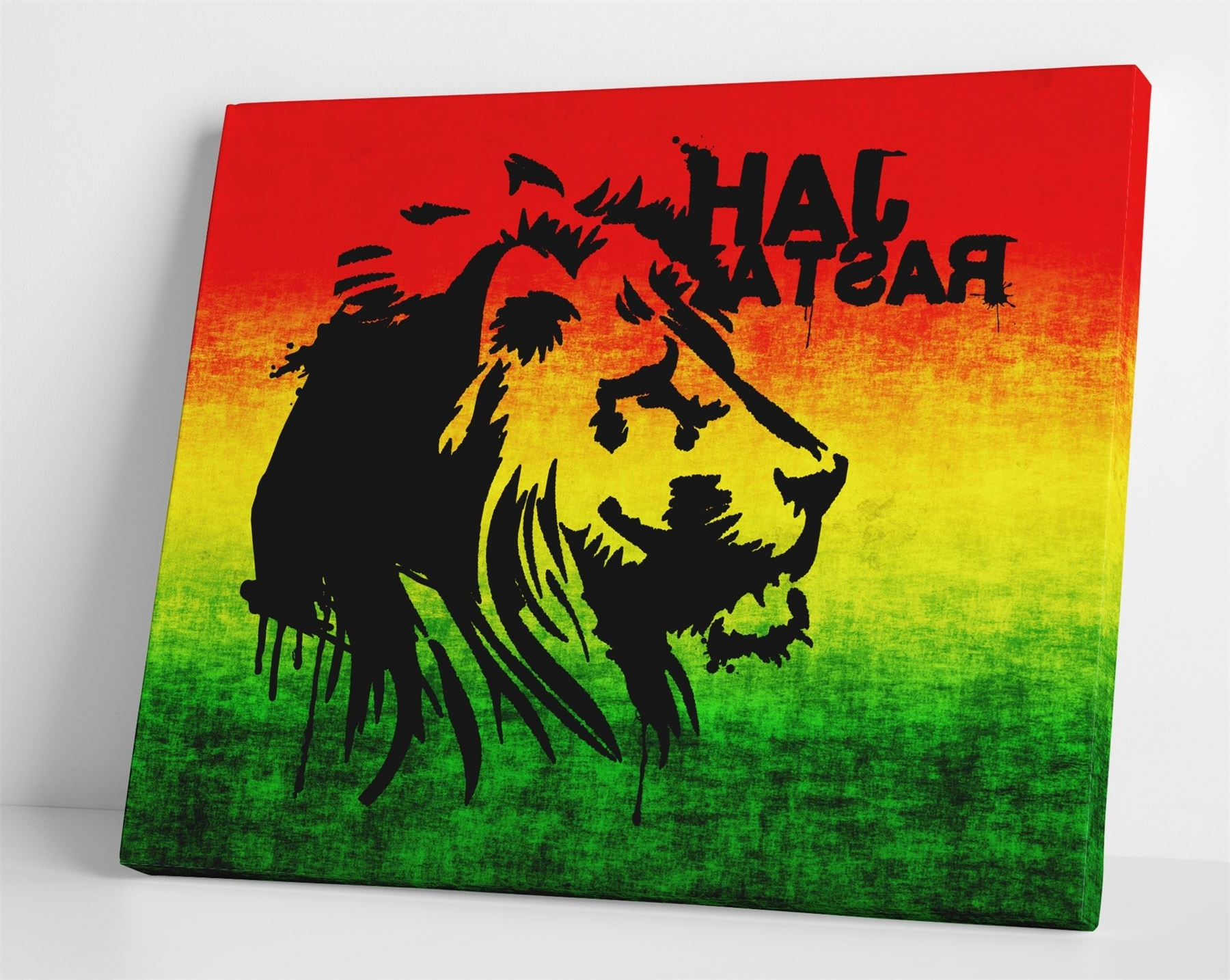 Jah Rasta Box Canvas Print Wall Art  Reggae Rasta Bob Marley For Most Up To Date Bob Marley Canvas Wall Art (View 8 of 15)