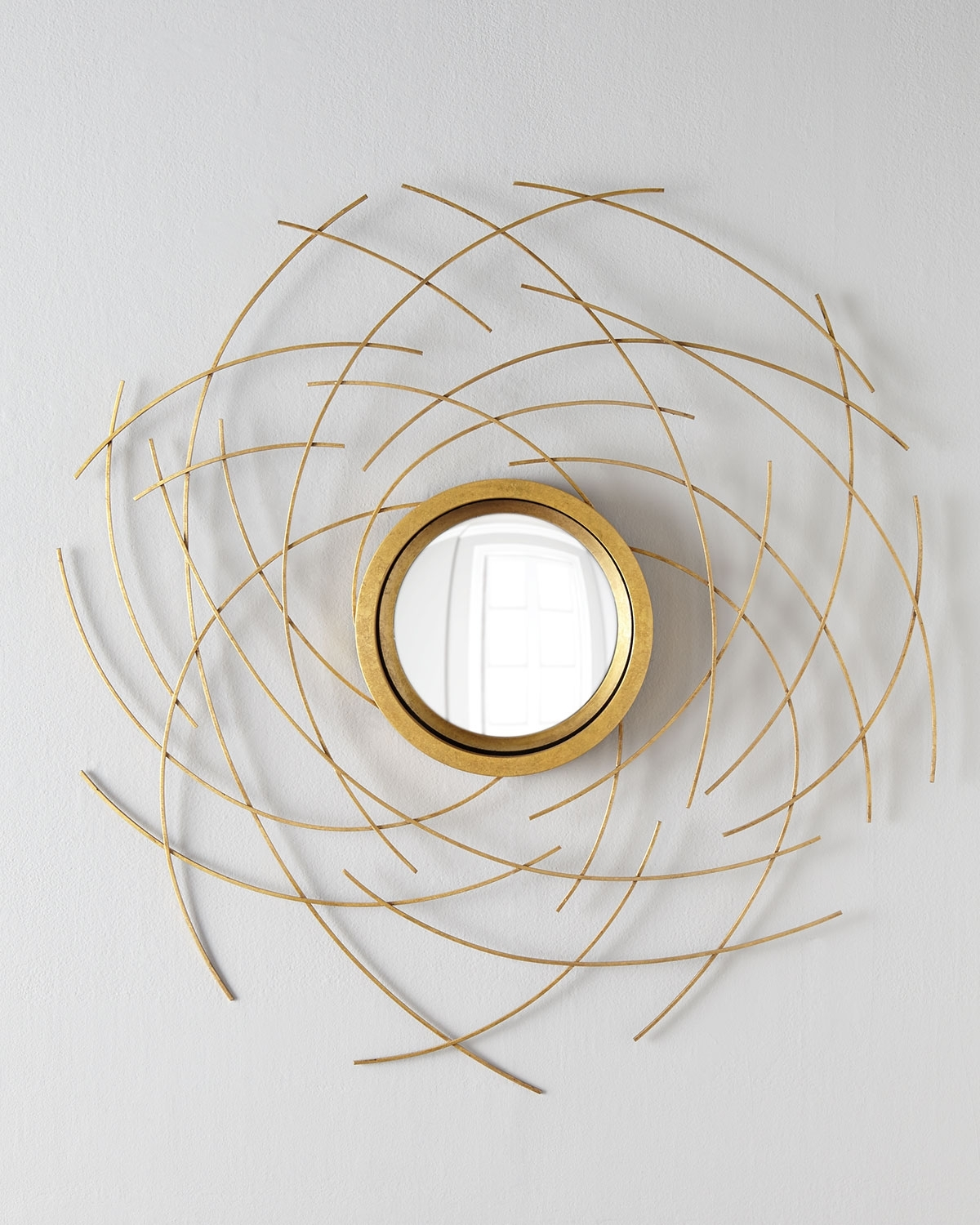 John Richard Wall Art Regarding Most Recently Released Abstract Mirror Wall Decor, Gold – John Richard Collection (View 11 of 15)