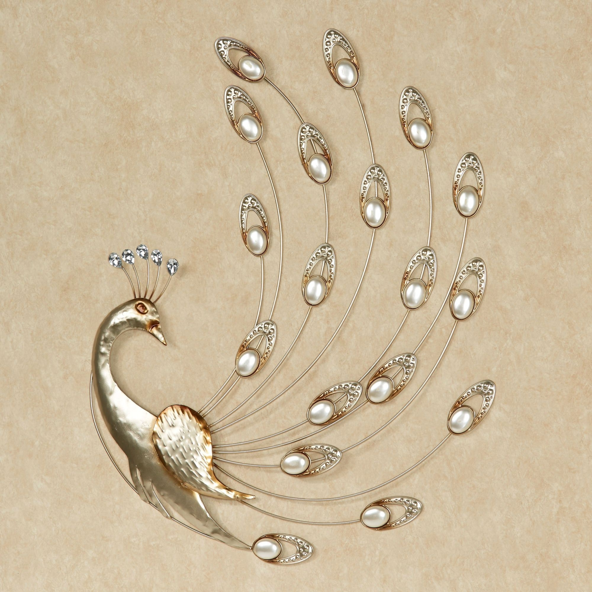 Julietta Pearl Peacock Metal Wall Art Intended For Popular Peacock Metal Wall Art (Gallery 4 of 15)