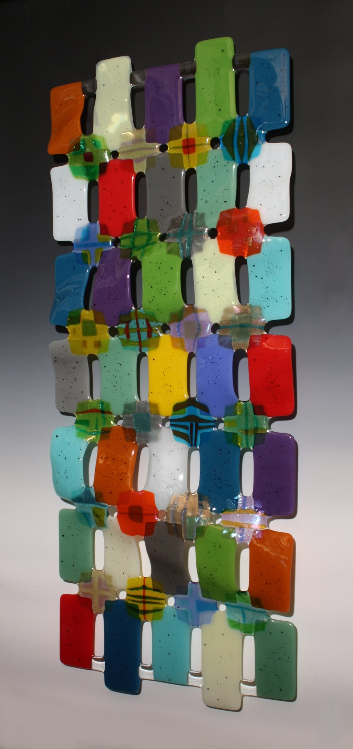 Kaleidoscopenina Cambron (Art Glass Wall Sculpture) (Gallery 5 of 15)