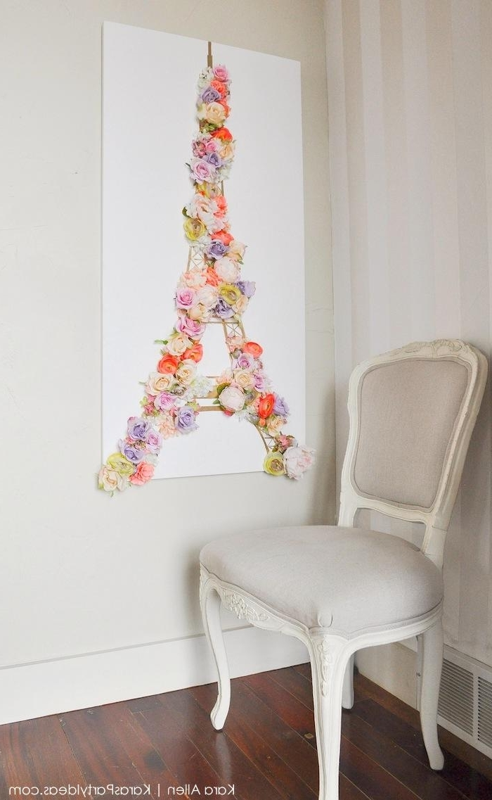 Kara's Party Ideas » Diy 'springtime In Paris' Gold Eiffel Tower With Best And Newest Eiffel Tower Wall Hanging Art (Gallery 15 of 15)