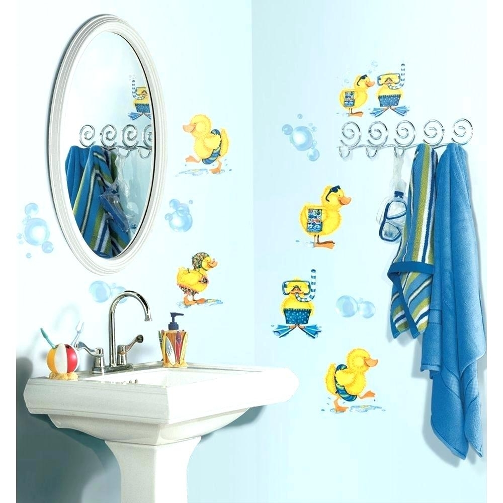 Kids Bathroom Wall Decals Finding Wall Decals Kids Bathroom Throughout Popular Fish Decals For Bathroom (Gallery 15 of 15)