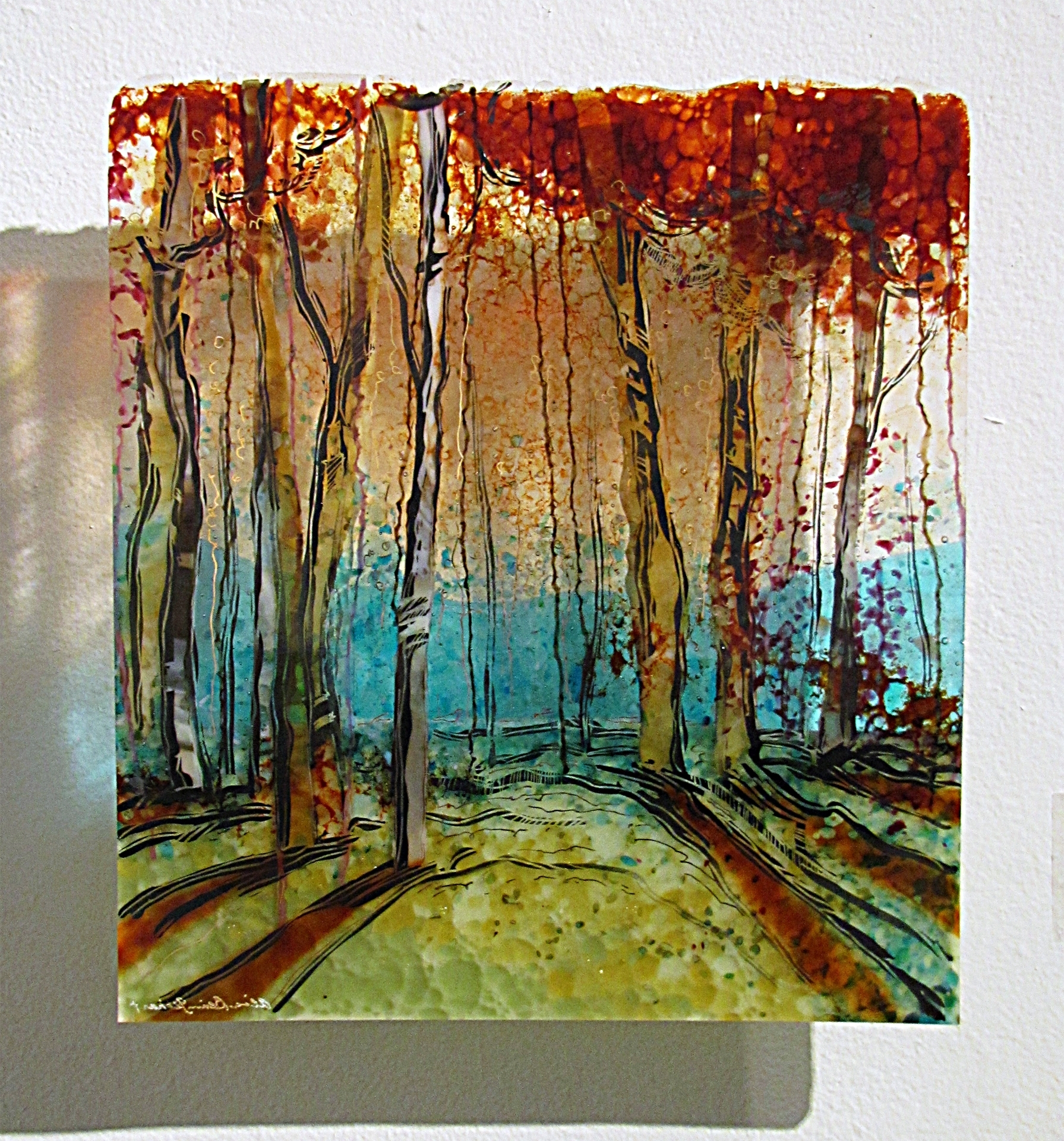 Kiln Fused Glass Wall Art Throughout Most Recently Released Nature's Curtain, Kiln Fired Glass Wall Panelalice Benvie (Gallery 1 of 15)