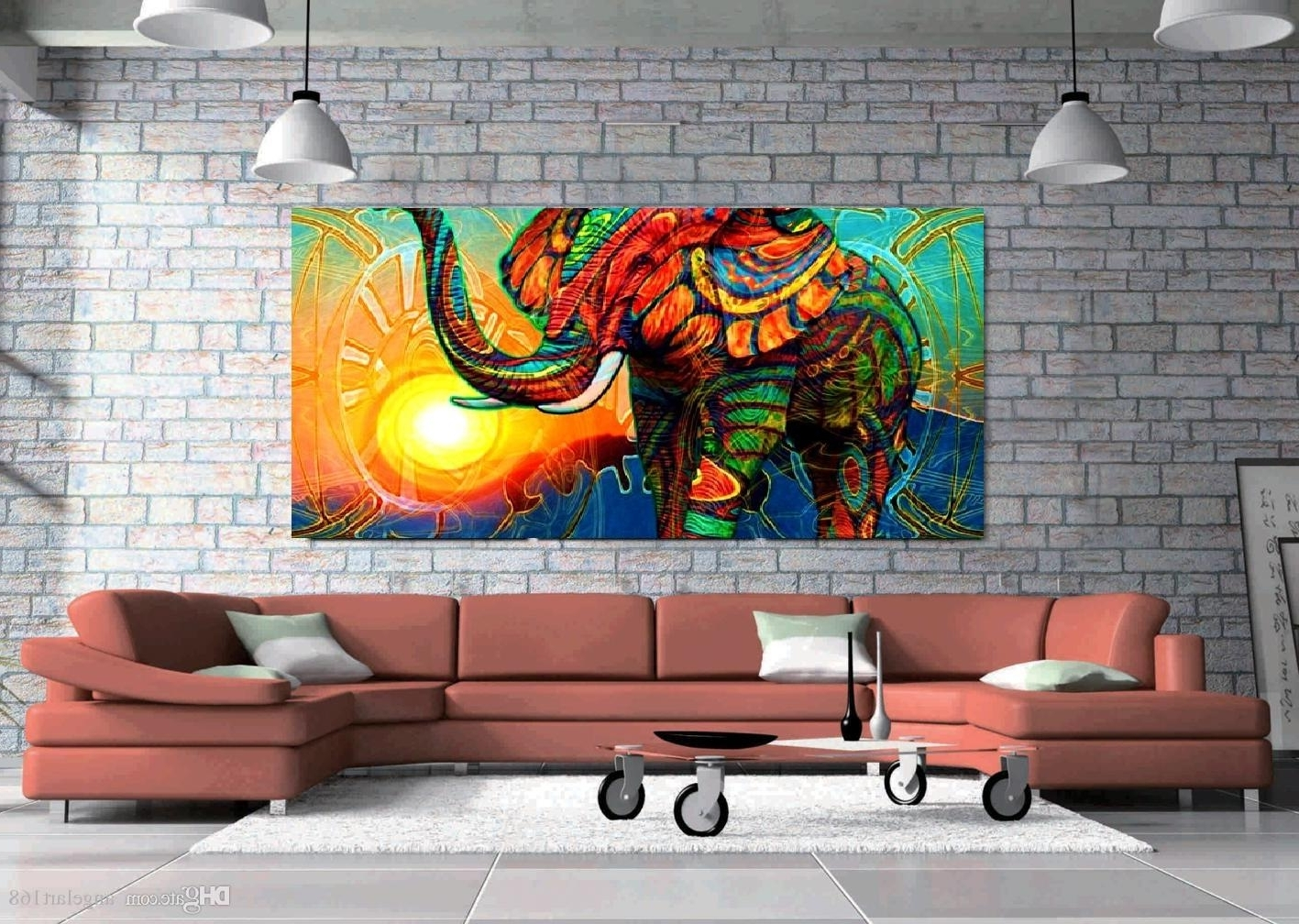 Kingdom Abstract Metal Wall Art Inside 2018 2018 Unframed Wall Art Oil Painting On Canvas Animal Paintings (View 15 of 15)