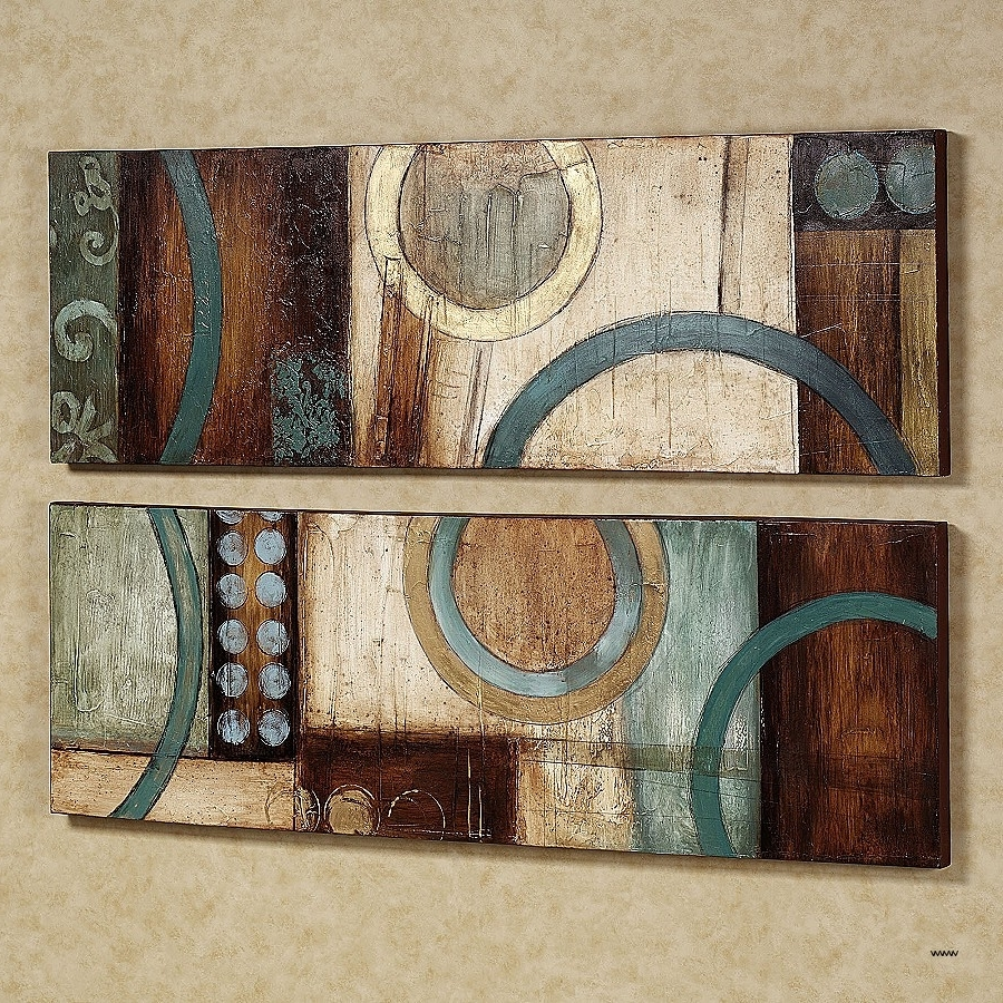 Kirkland Abstract Wall Art Intended For Preferred Kirkland Metal Wall Art Best Of Amazing Ideas Teal And Brown Wall (View 6 of 15)