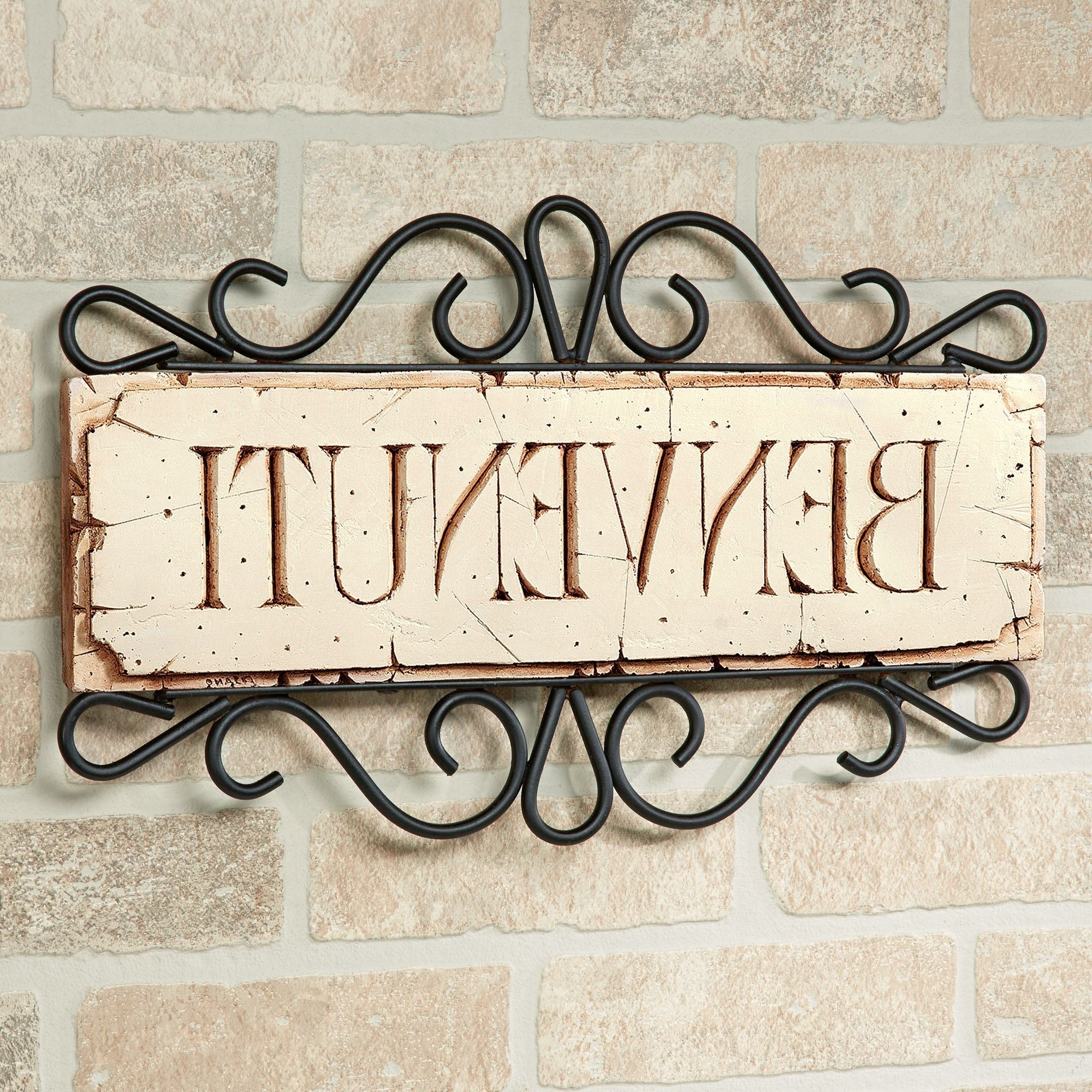 Kitchen Collection, Sinks And For Trendy Italian Plaques Wall Art (View 5 of 15)