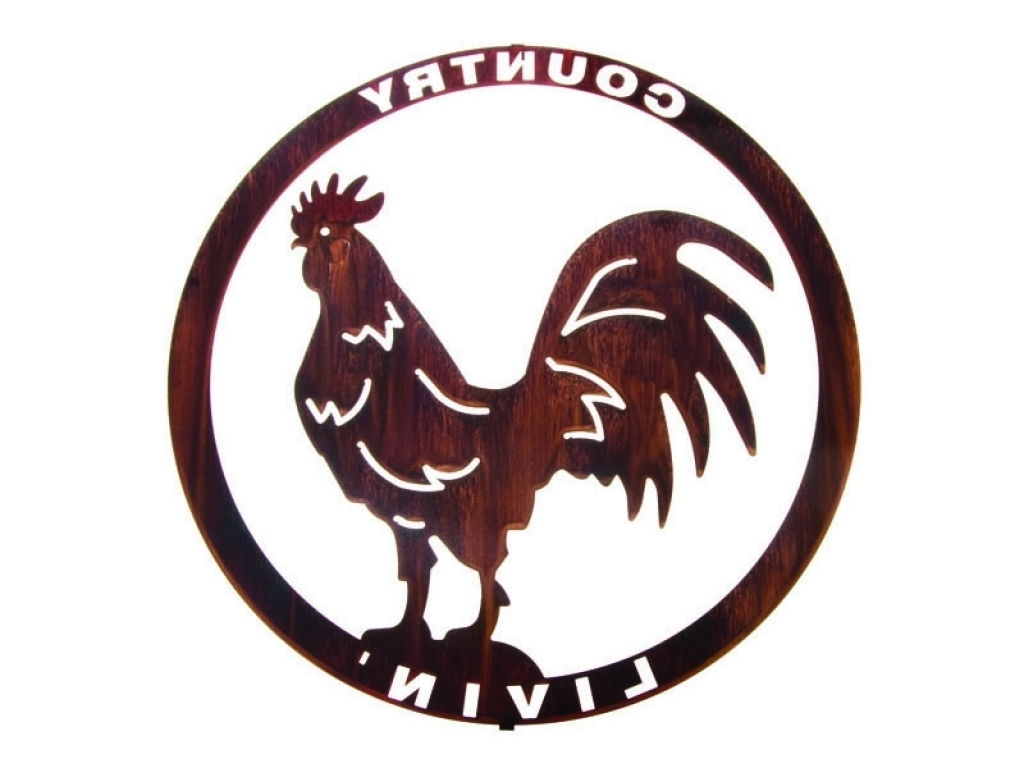 Kitchen Ideas Metal Rooster Wall Decor (View 4 of 15)