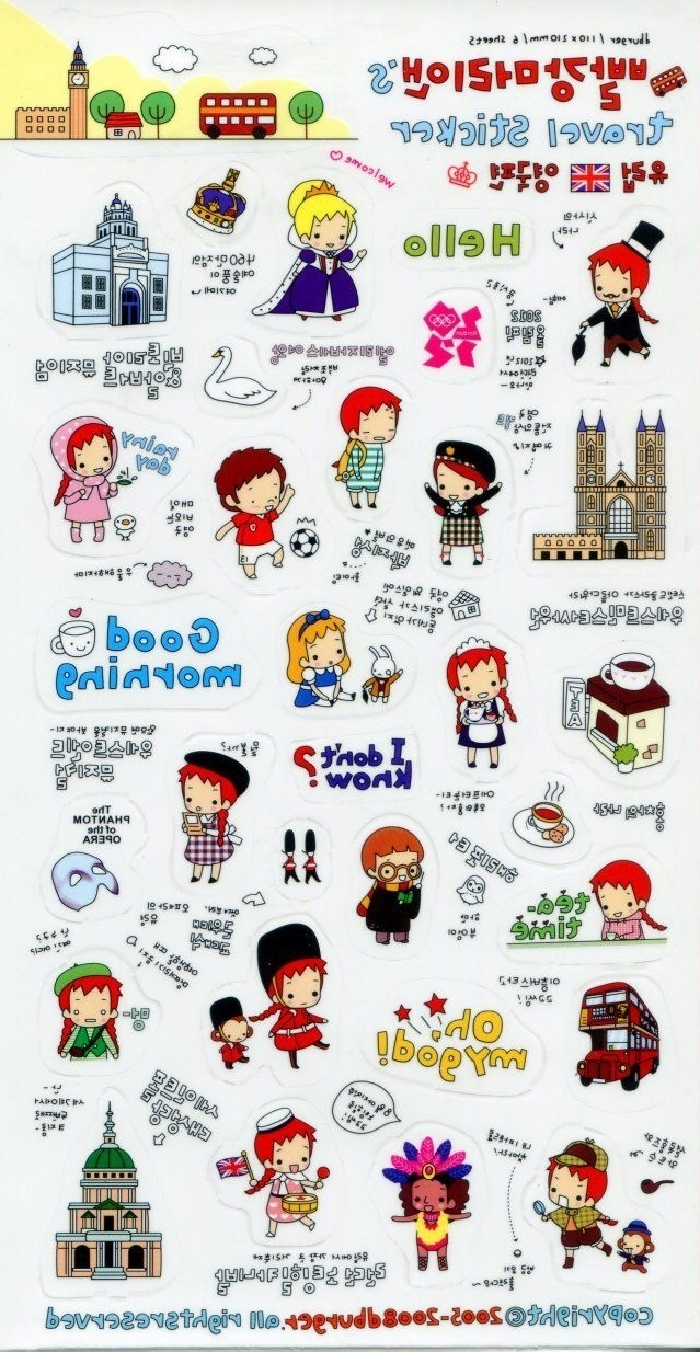 Korean Stickers Regarding Current Paris Themed Stickers (View 3 of 15)
