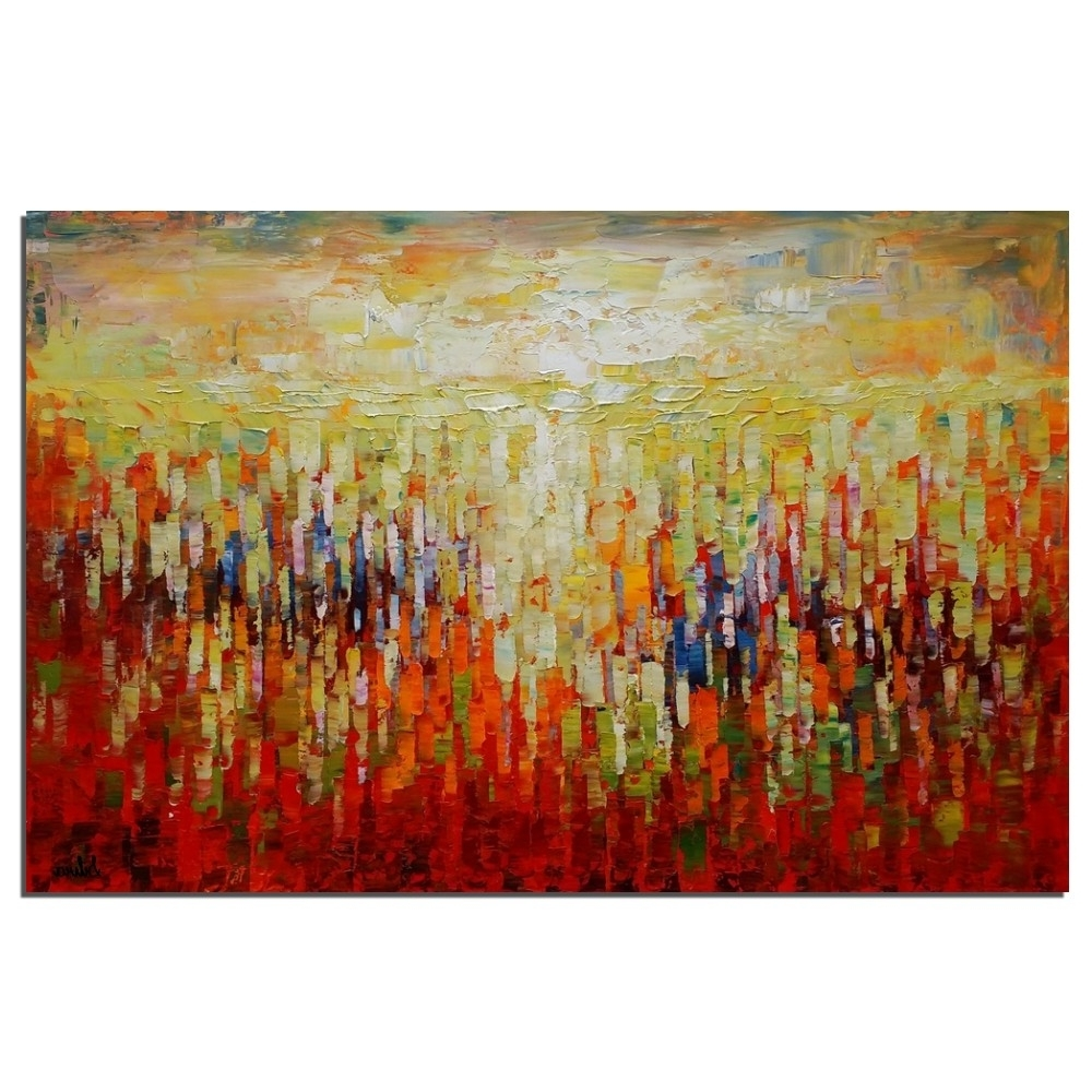 Large Abstract Canvas Wall Art With Regard To Recent Abstract Canvas Art, Oil Painting, Large Painting, Kitchen Wall (View 10 of 15)