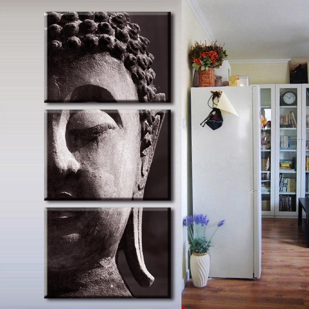 Large Buddha Wall Art For Fashionable Wall Art Designs: Vertical Wall Art Buddha Painting Vertical (View 6 of 15)