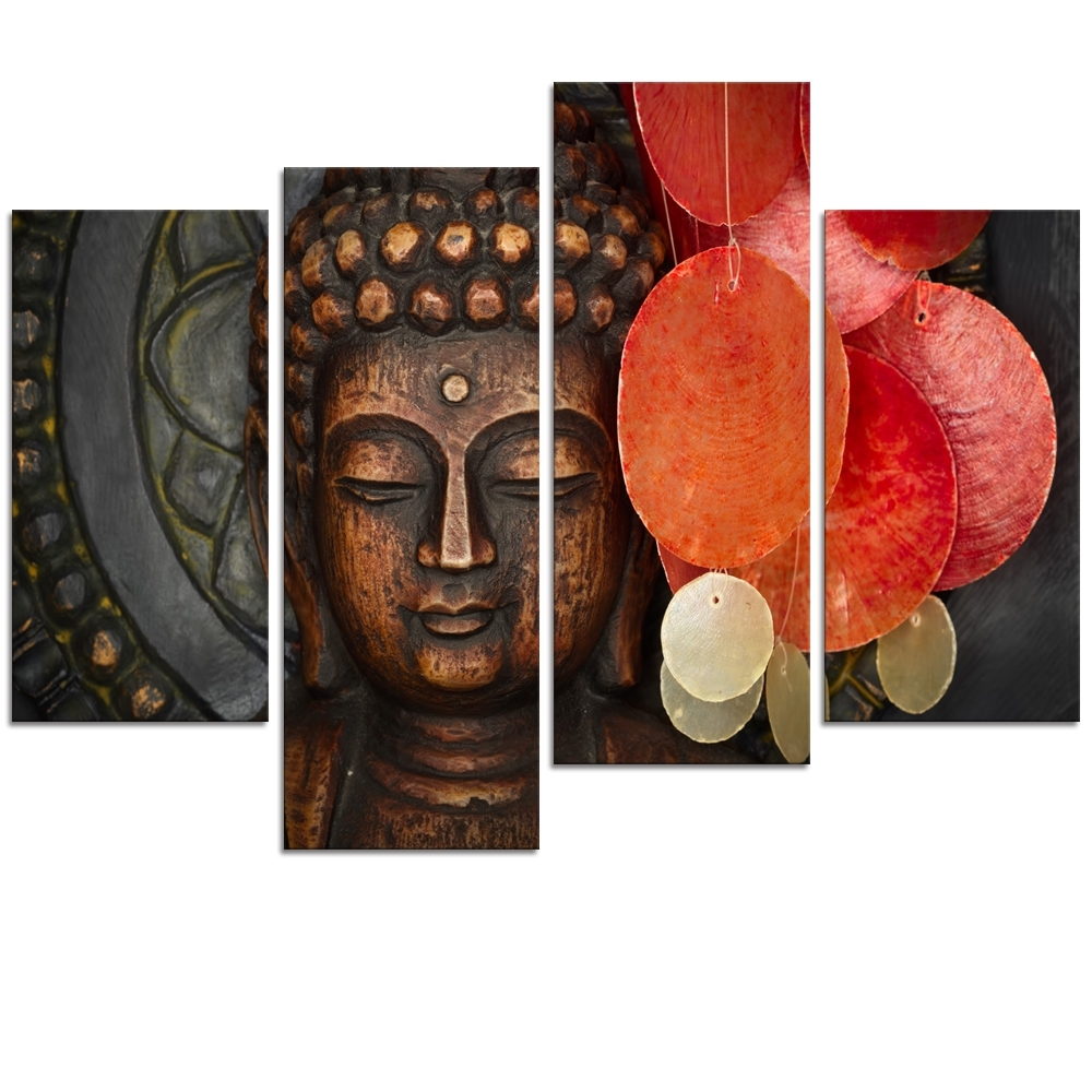 Large Buddha Wall Art Throughout Best And Newest Visual Art Decor Large Buddha Painting Prints Wall Art Decor No (View 8 of 15)