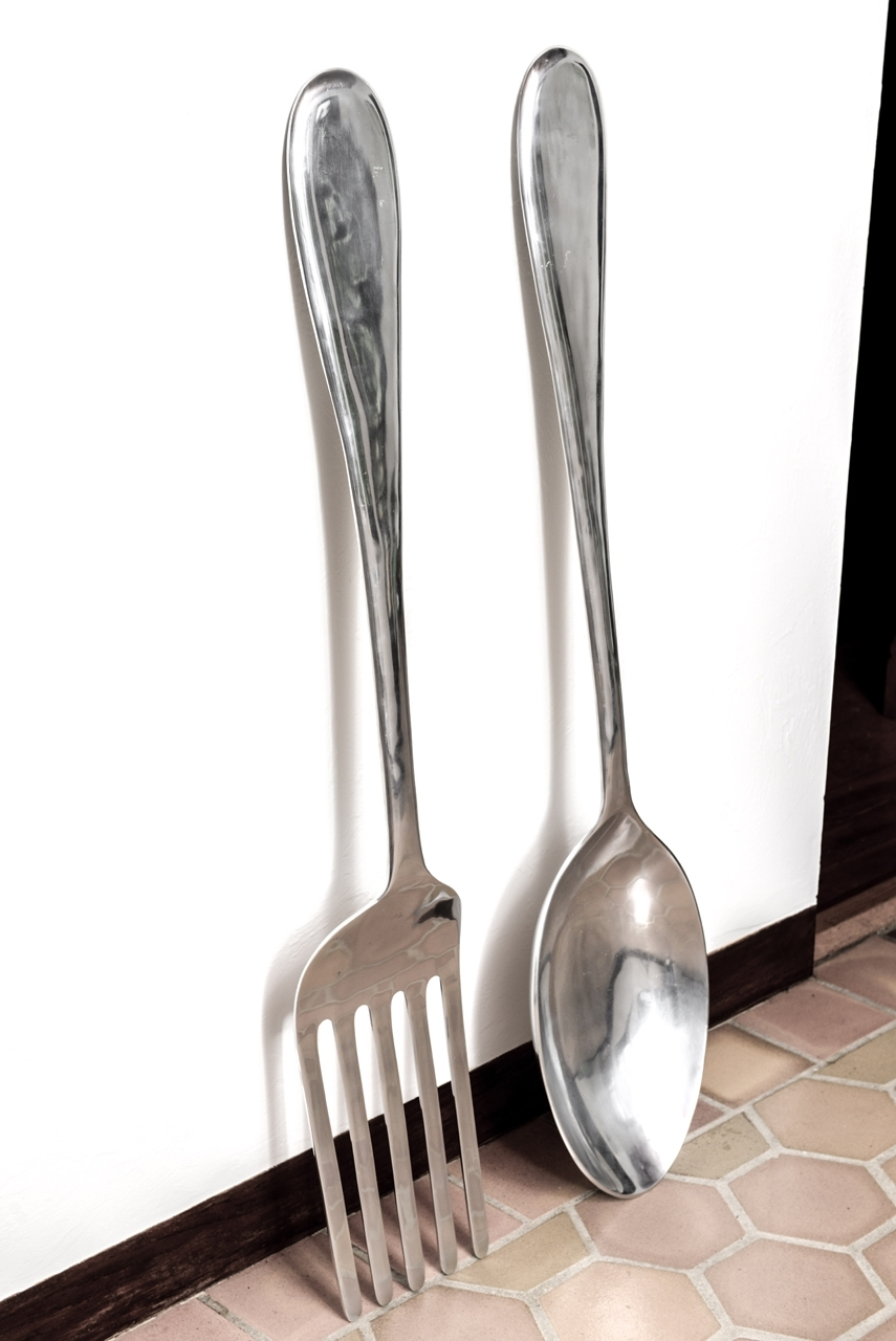 Large Fork And Spoon Wall Hanging (View 5 of 15)