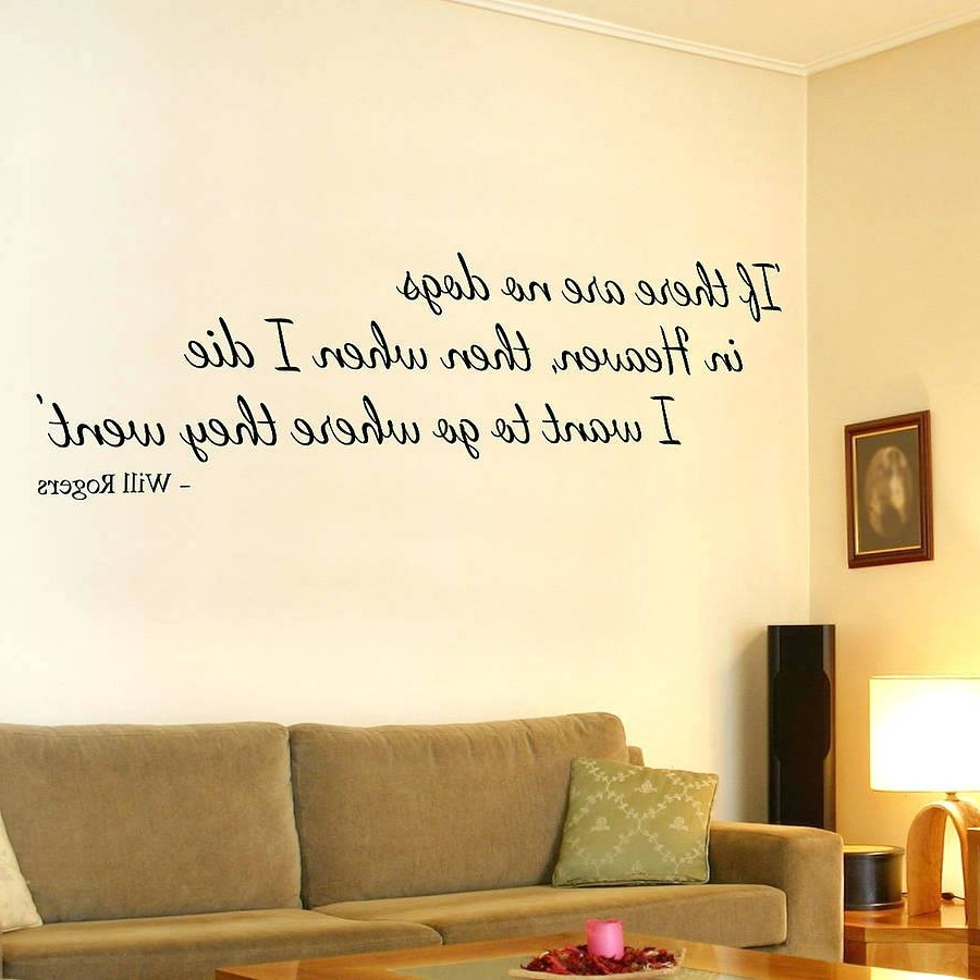 Large Horizontal Wall Art Throughout Most Recent Wall Decals Dogs Amusing Dog Sayings Wall Art In Large Horizontal (View 9 of 15)