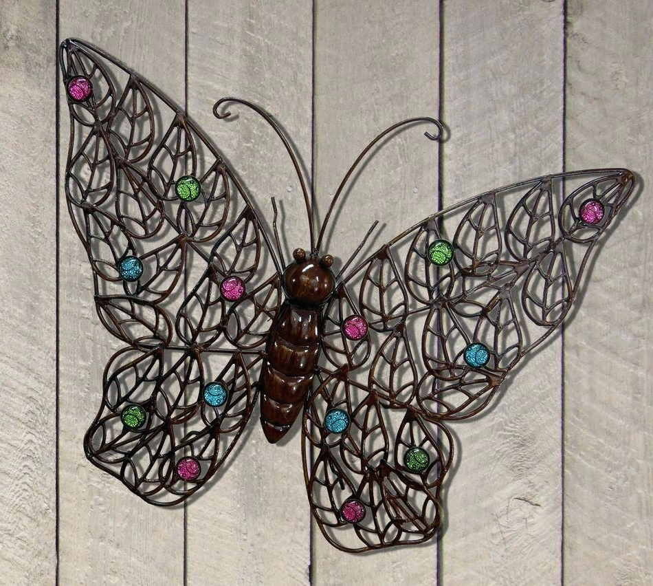 Large Metal Butterfly Wall Art Intended For Most Up To Date Wall Arts ~ Outdoor Wall Decor Large 20 Ideas Of Metal Large (View 10 of 15)