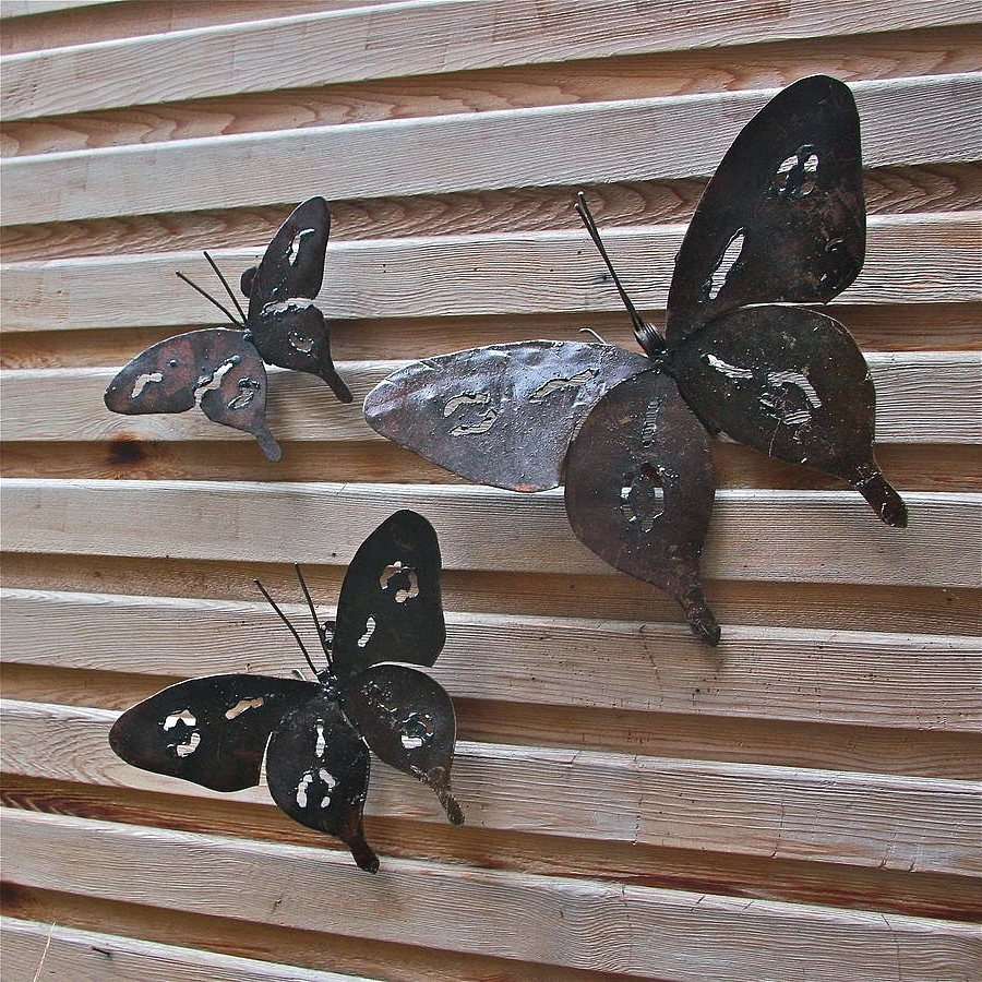 Large Metal Butterfly Wall Art Regarding Well Known Wall Arts ~ Metal Art Rustic Home Decor Rustic Decor Decorations (View 14 of 15)
