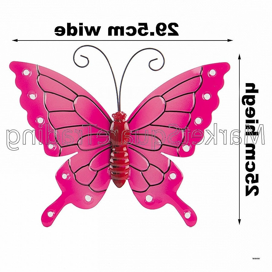 Large Metal Butterfly Wall Art Within Fashionable Wall Art New Ceramic Butterfly Wall Art High Resolution Wallpaper (View 15 of 15)