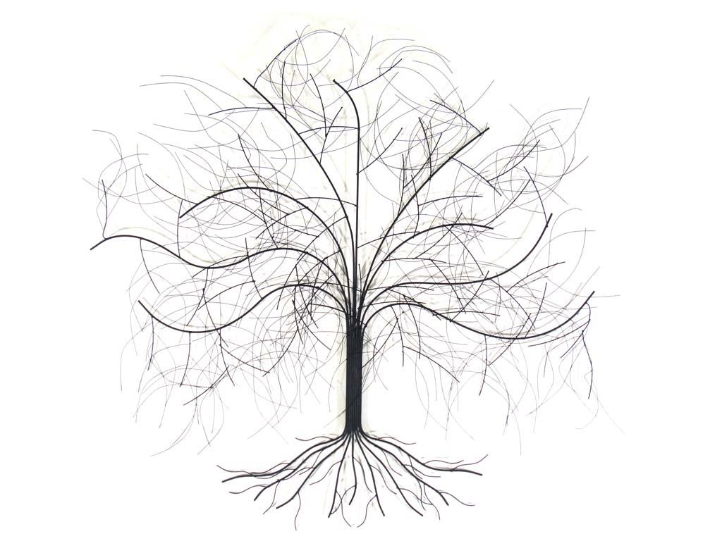 Featured Photo of Windy Oak Tree Metal Wall Art