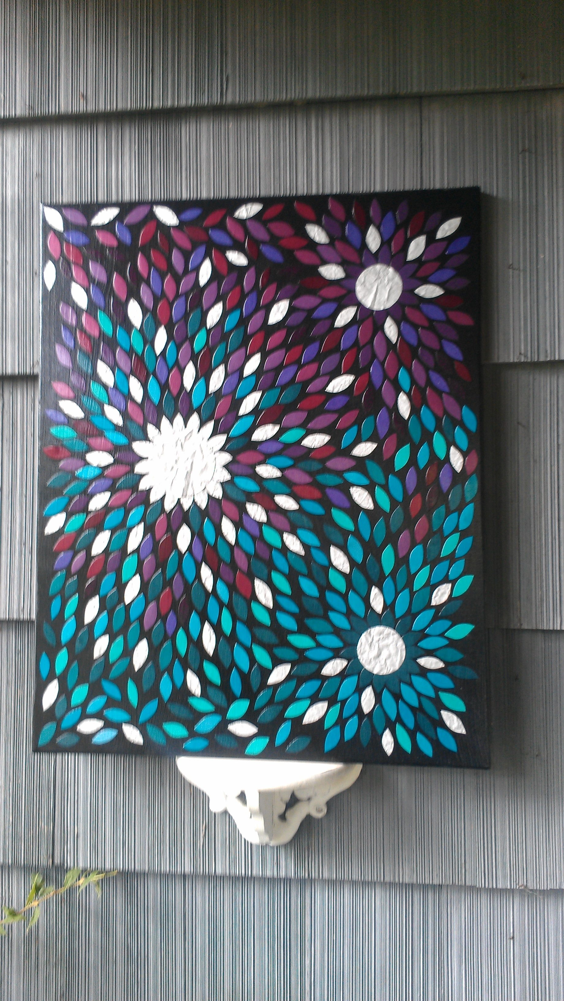 Large Paper Mosaic Art On Canvas Https://www (View 7 of 15)