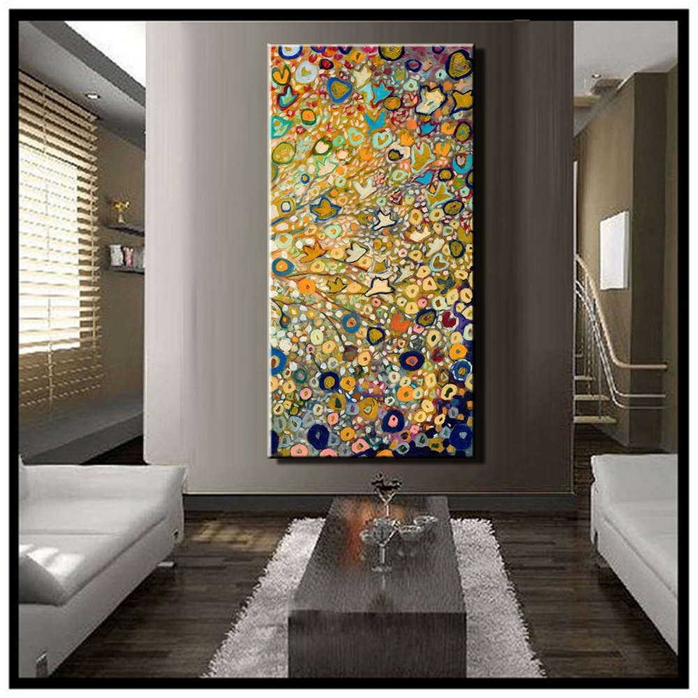 Large Single Abstract Flower Cheap Huge Vertical Oil Painting On Within Well Known Modern Abstract Huge Wall Art (Gallery 7 of 15)