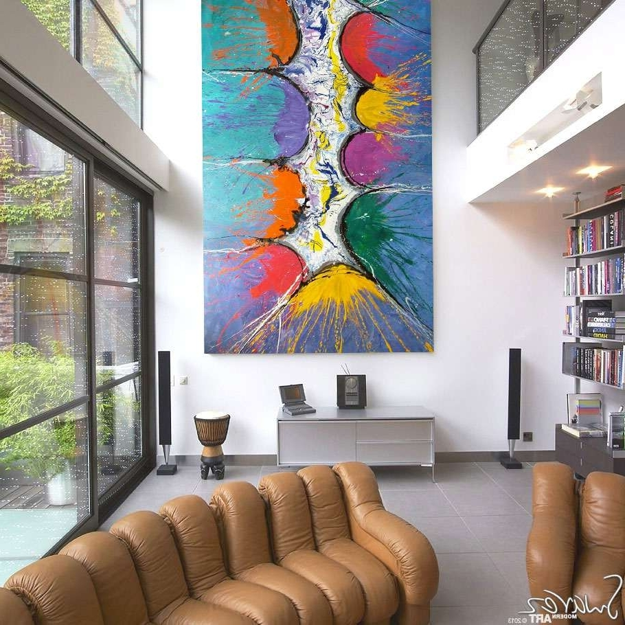 Large Size Multi Coloured Art (View 6 of 15)